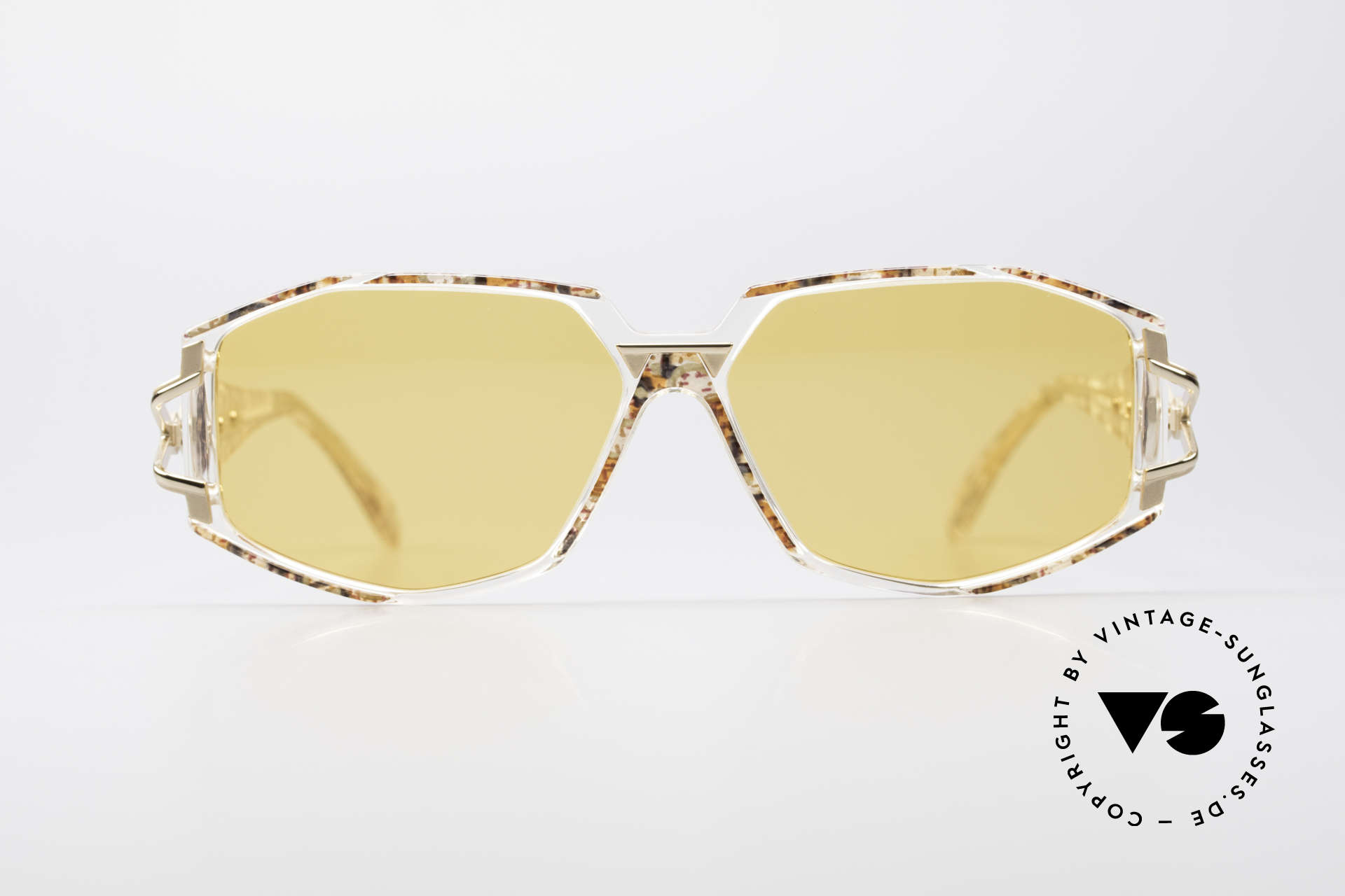 Cazal 368 90's Hip Hop Designer Frame, exciting design on the hinges of the arms; just unique, Made for Women