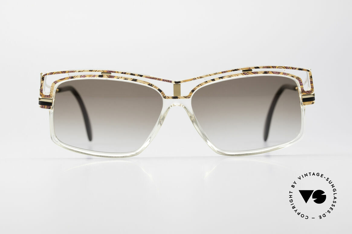 Cazal 365 Old School No Retro Sunglasses, interesting combination of colors, form & materials, Made for Men and Women