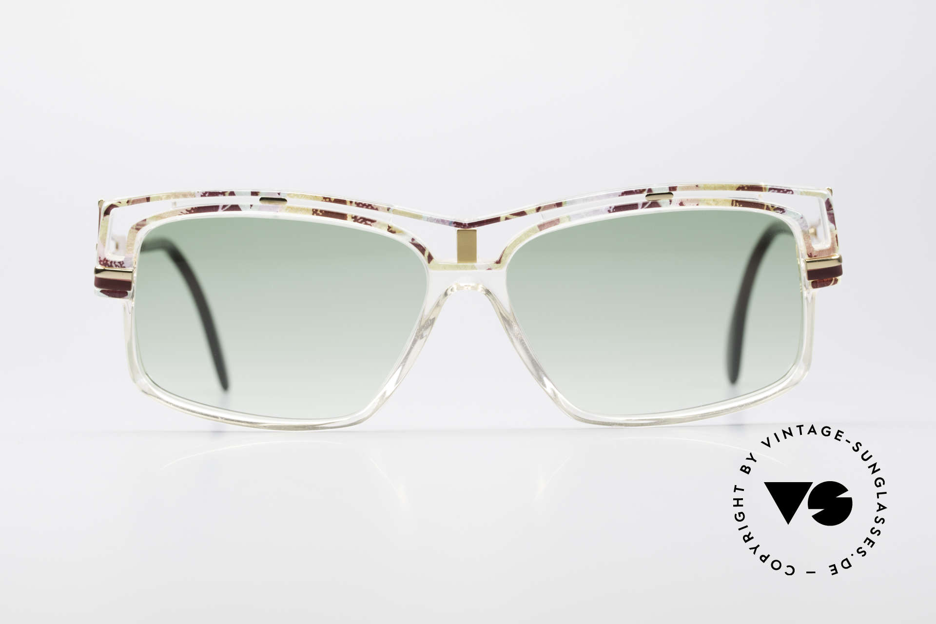 Cazal 365 90's Old School Hip Hop Shades, interesting combination of colors, form & materials, Made for Men and Women