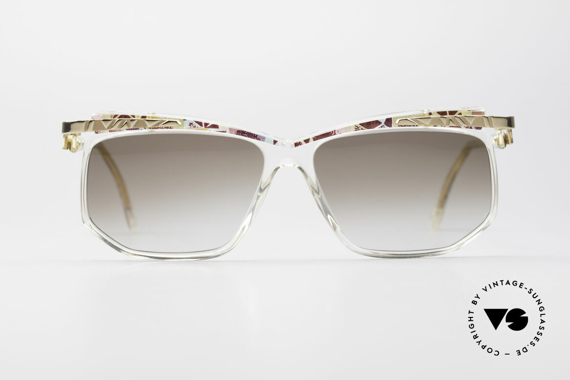 Cazal 366 Crystal Vintage 90's Frame, crystal clear frame with interesting pattern: ruby-mint, Made for Men and Women