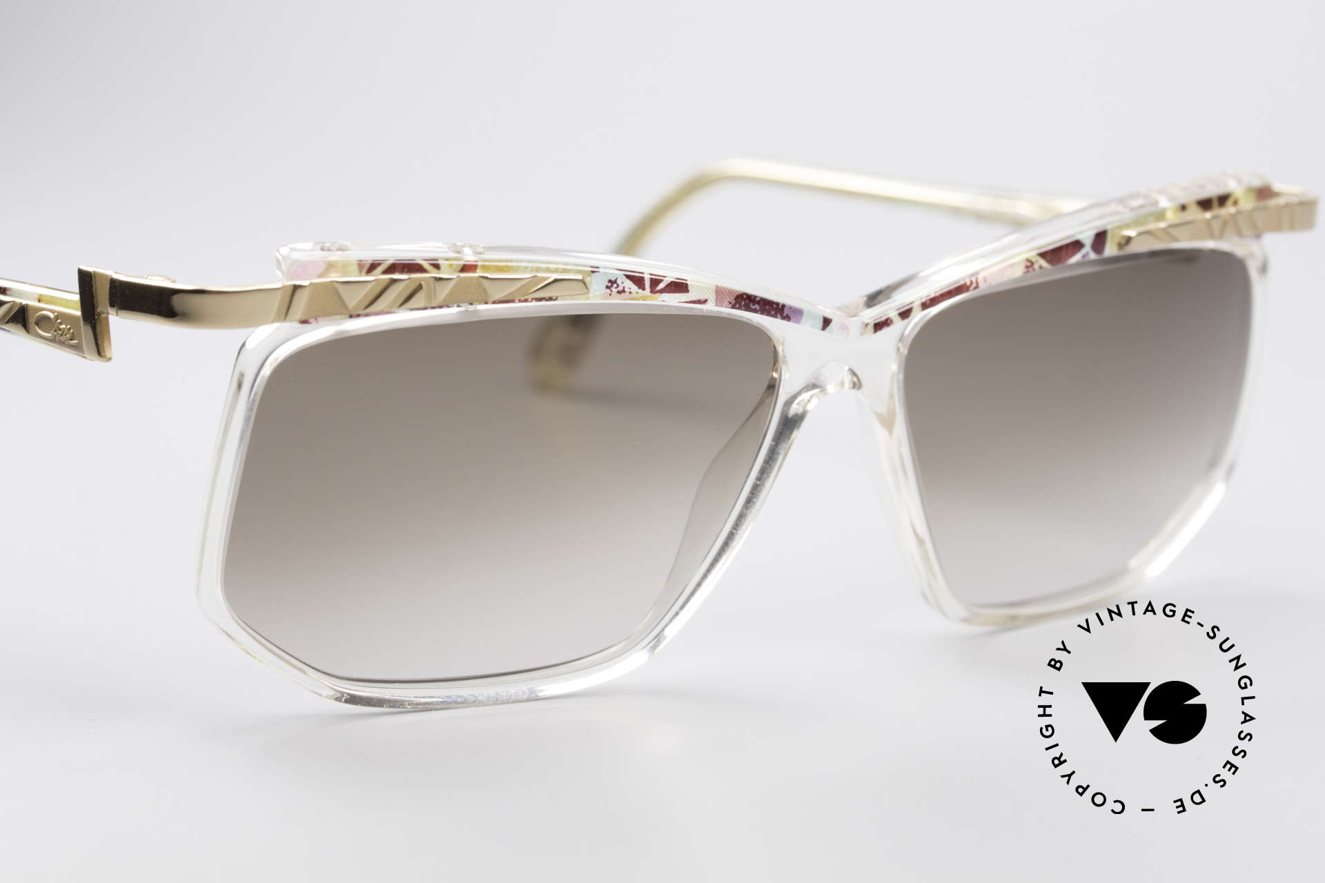 Cazal 366 Crystal Vintage 90's Frame, never worn, NOS (like all our Cazal HIP HOP shades), Made for Men and Women