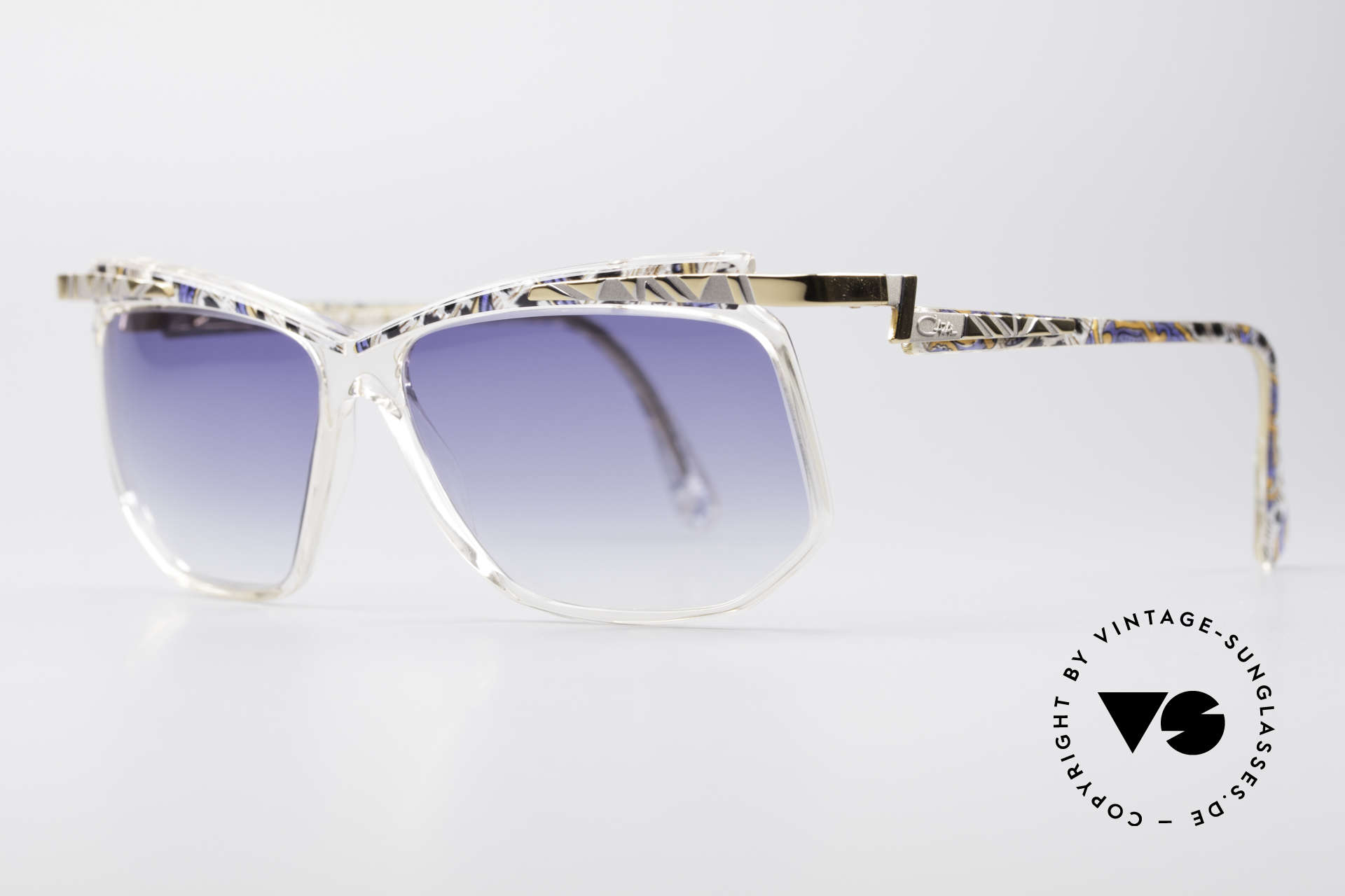 Cazal 366 Crystal Vintage 90's Hip Hop, CAZAL = part of the US hip-hop-scene in the 80s/90s, Made for Men and Women