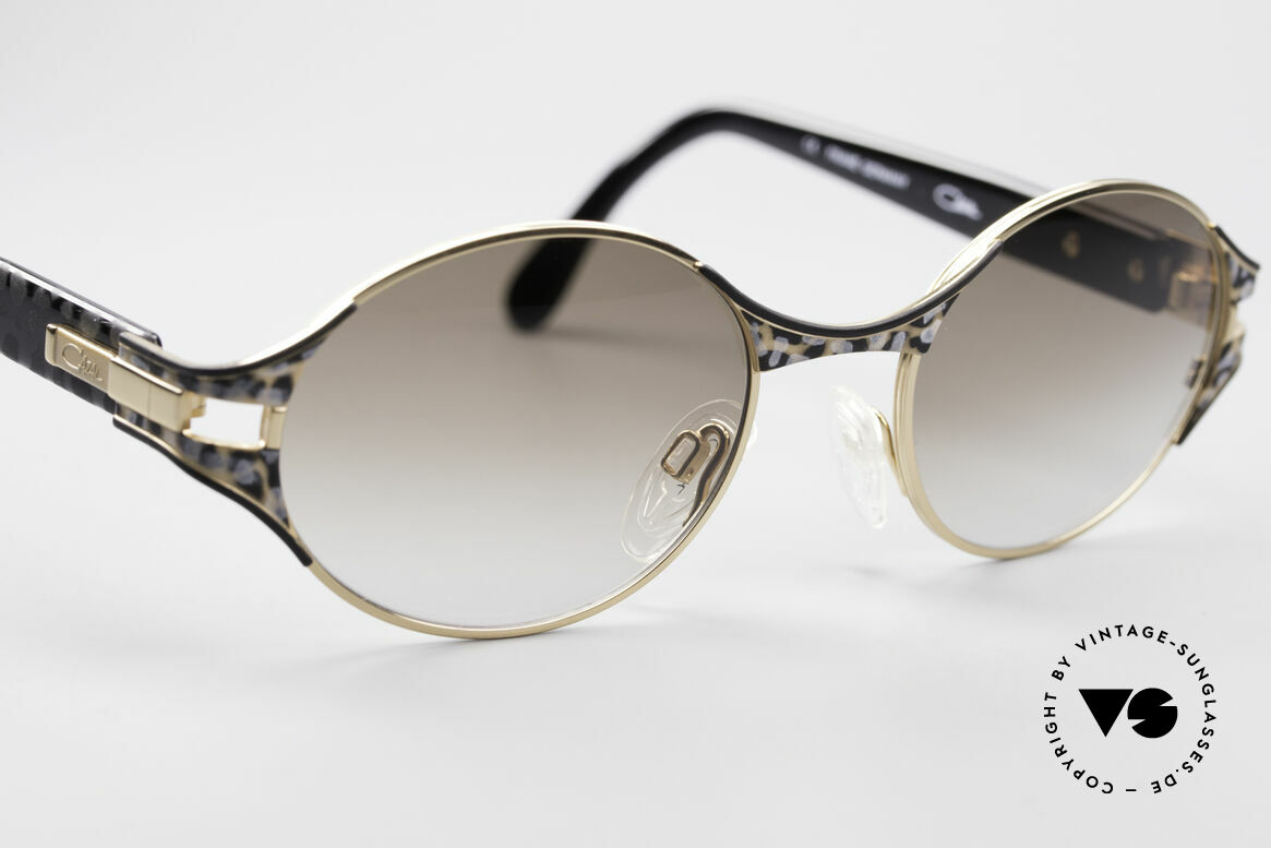 Cazal 281 Oval 90's Designer Sunglasses, the frame is made for optical lenses or sun lenses, Made for Women