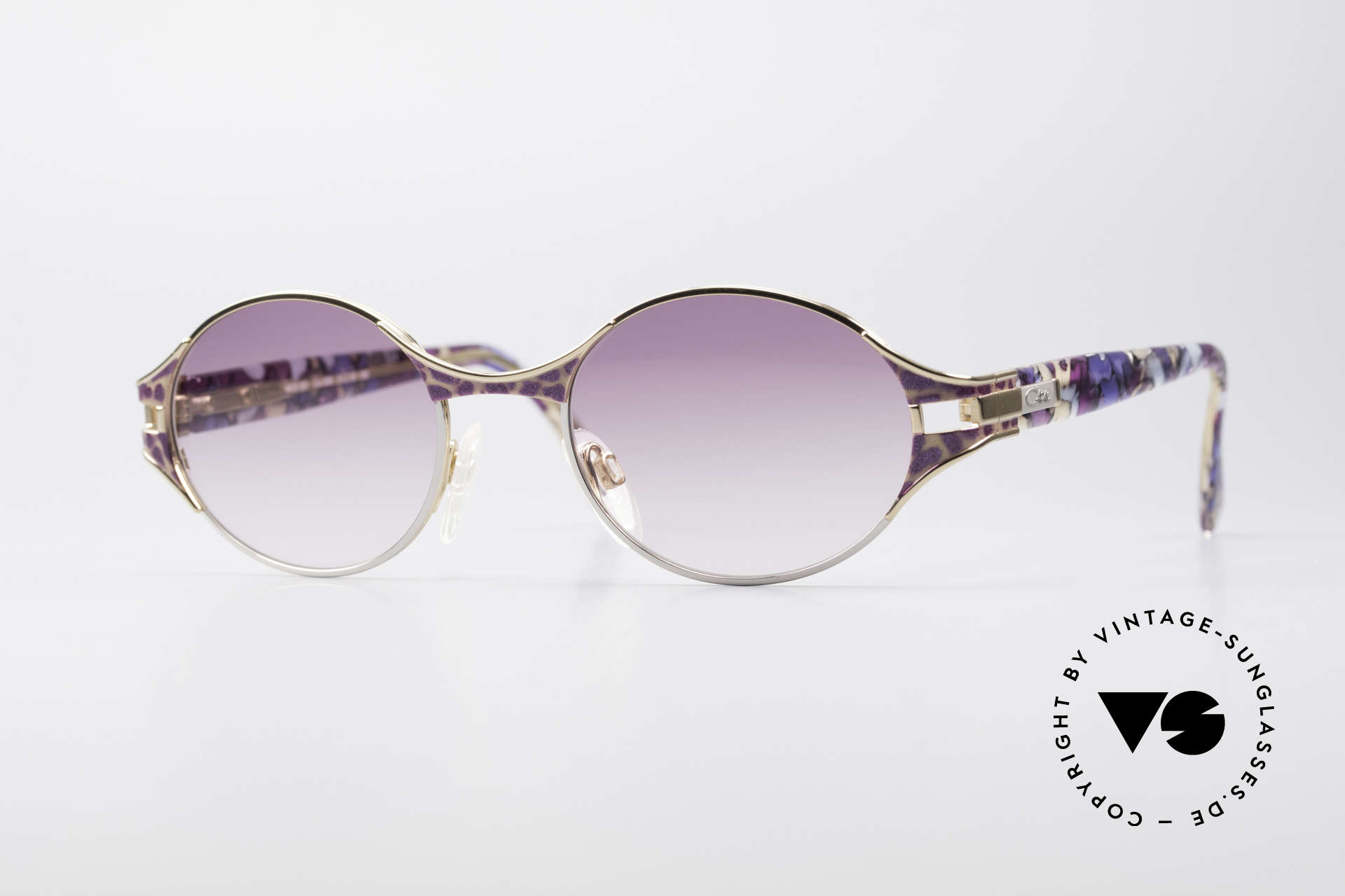 Cazal 281 Oval 90's Vintage Sunglasses, original CAZAL vintage sunglasses of the late 90's, Made for Women