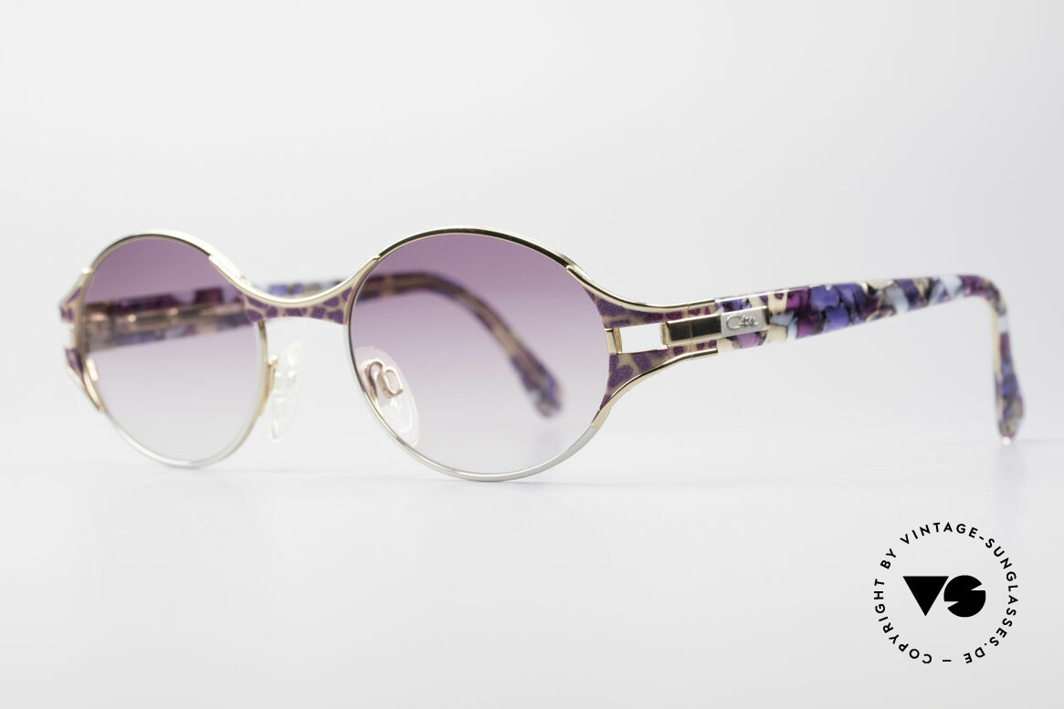 Cazal 281 Oval 90's Vintage Sunglasses, coloration, materials & craftsmanship on top-level, Made for Women