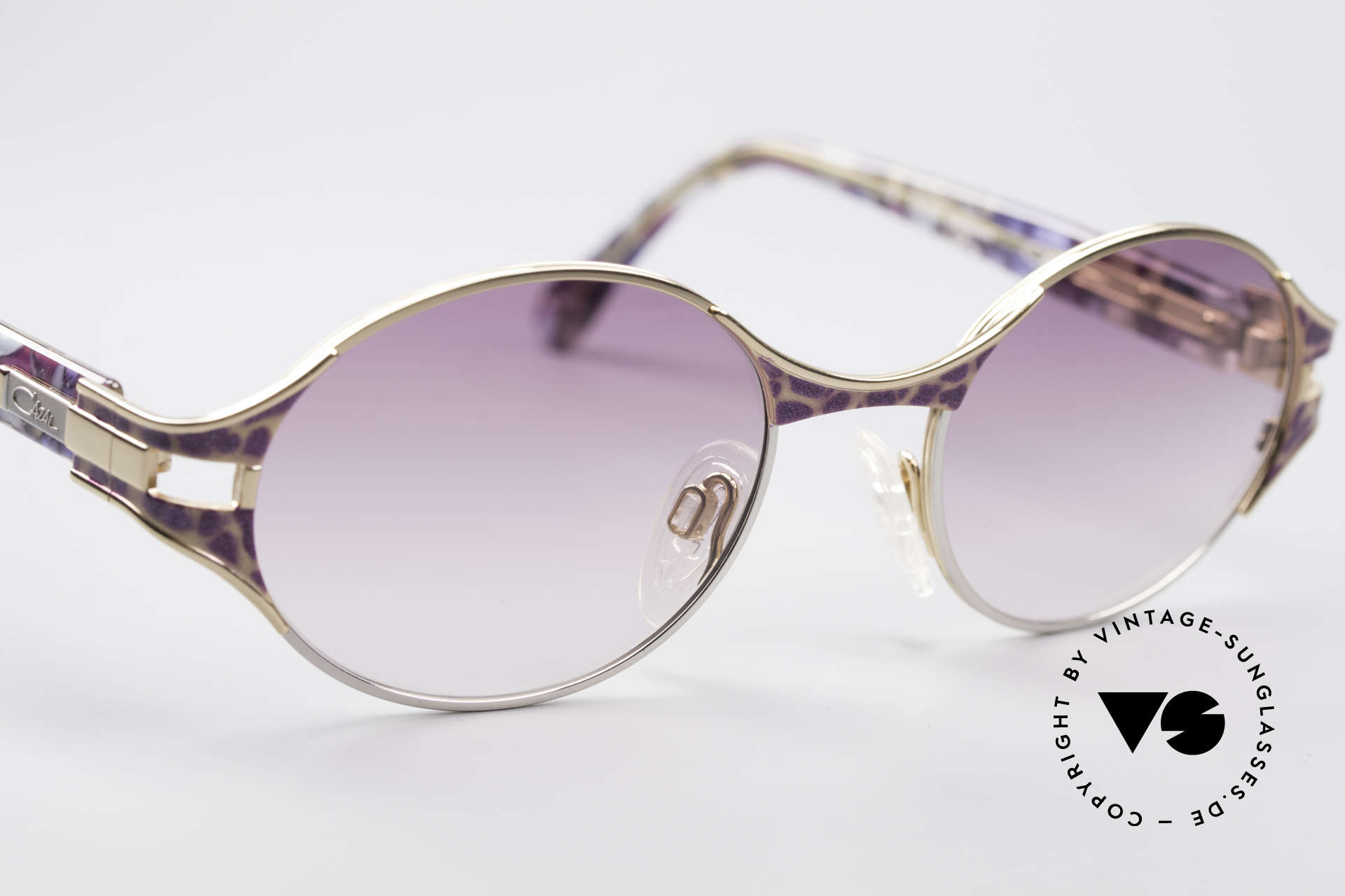 Cazal 281 Oval 90's Vintage Sunglasses, the frame is made for optical lenses or sun lenses, Made for Women