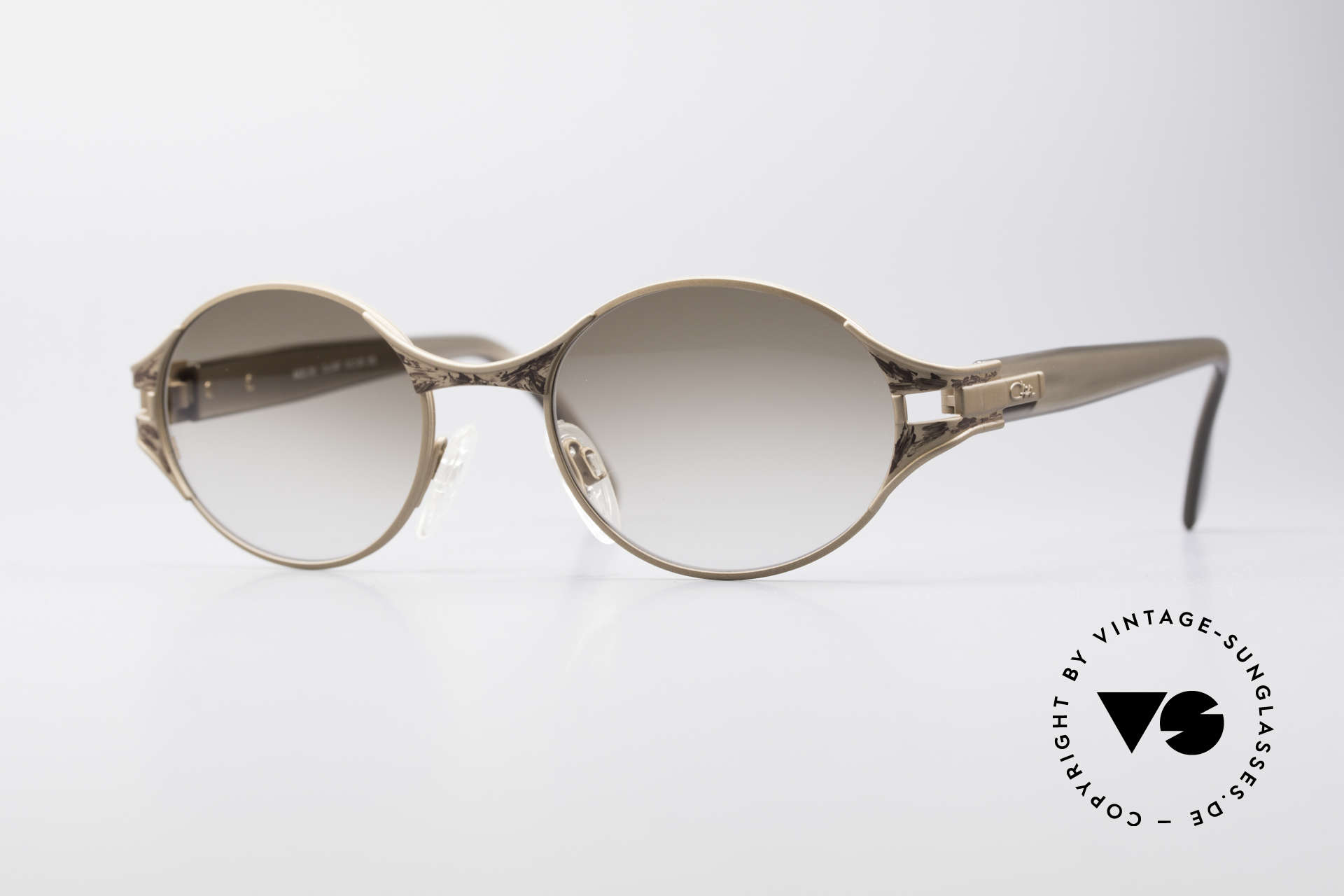 Cazal 281 90's Sunglasses Oval Round, original CAZAL vintage sunglasses of the late 90's, Made for Women