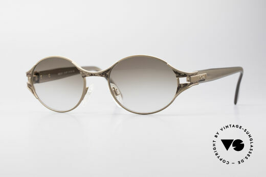 Cazal 281 90's Sunglasses Oval Round Details