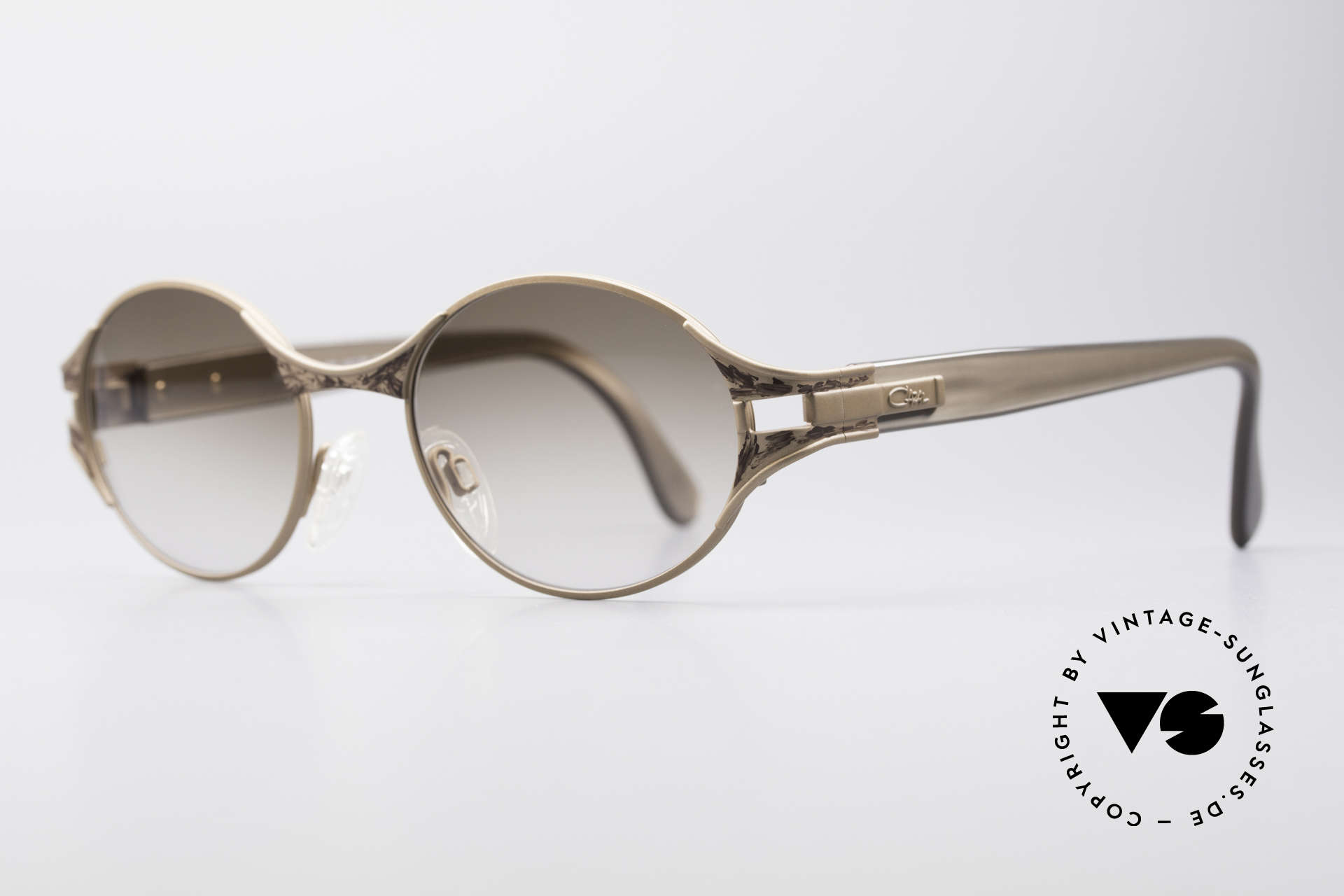 Cazal 281 90's Sunglasses Oval Round, coloration, materials & craftsmanship on top-level, Made for Women