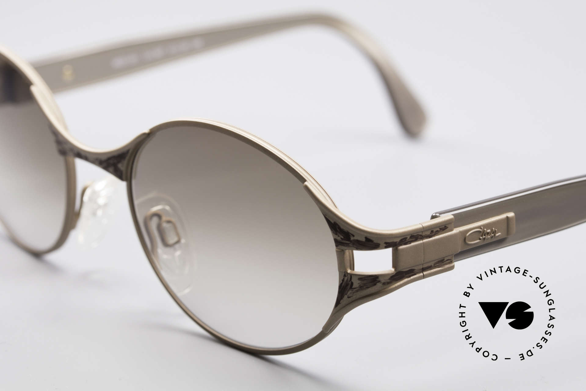 Cazal 281 90's Sunglasses Oval Round, unworn condition; like all our vintage Cazal shades, Made for Women