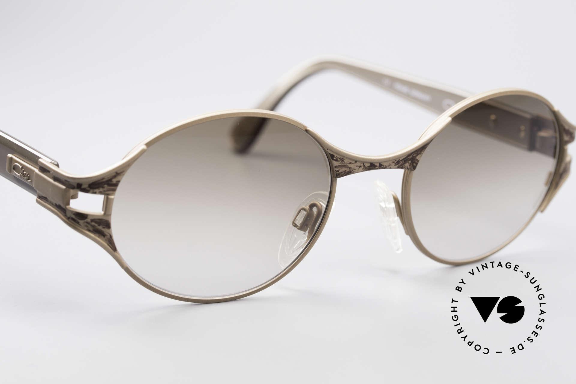 Cazal 281 90's Sunglasses Oval Round, the frame is made for optical lenses or sun lenses, Made for Women