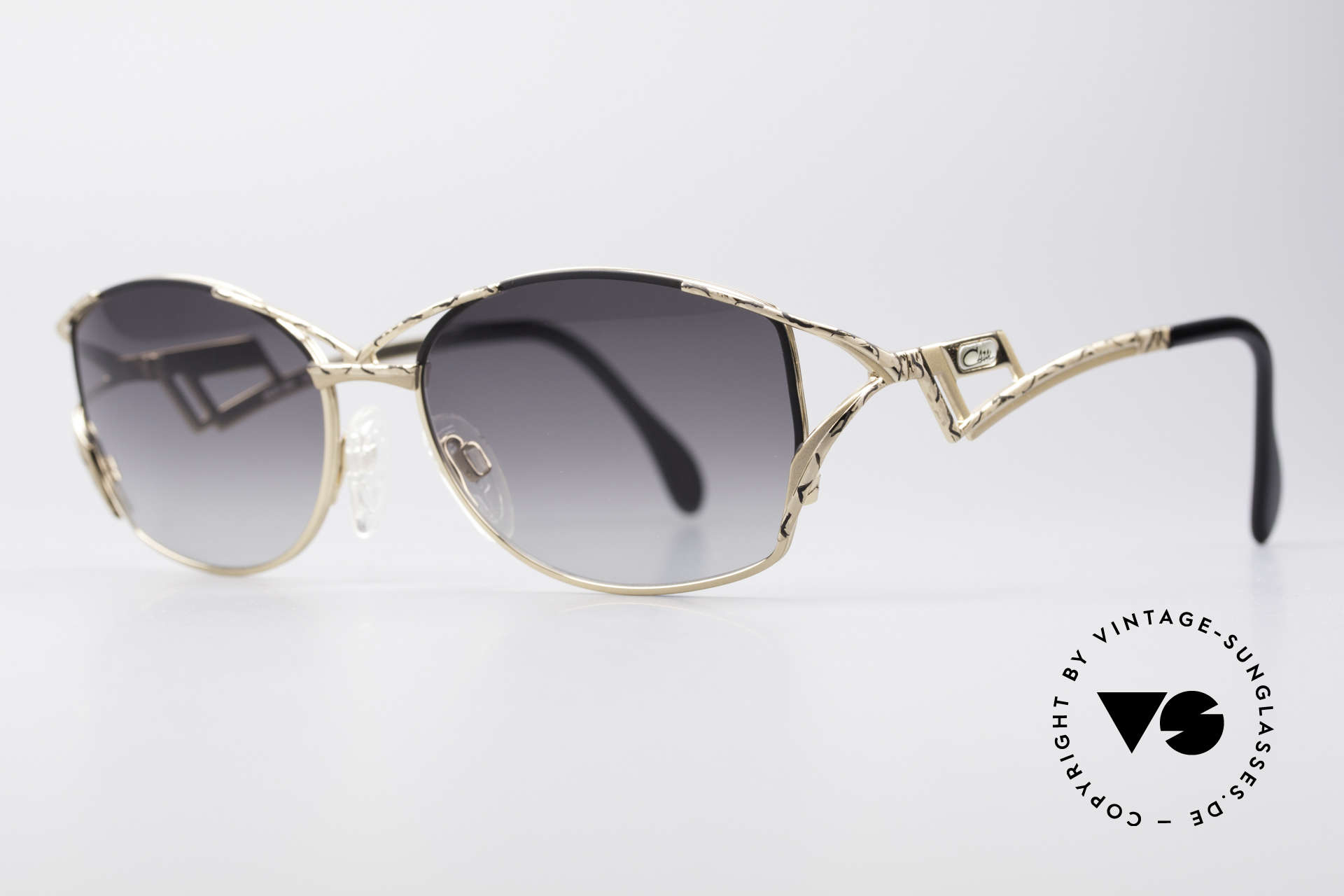 Cazal 284 Luxury Vintage Sunglasses 90's, fancy temples and overall very noble frame finish, Made for Women