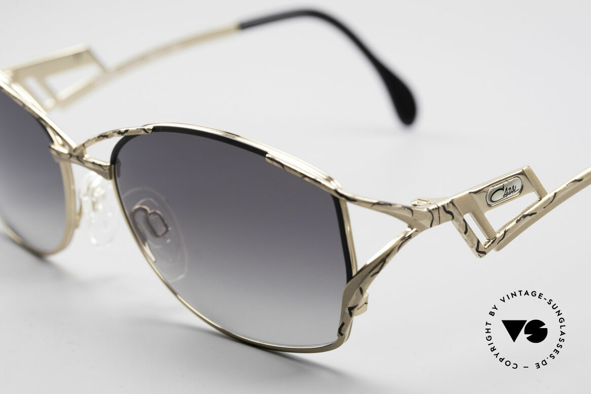 Cazal 284 Luxury Vintage Sunglasses 90's, Cazal describes the pattern as 'champagne/black', Made for Women