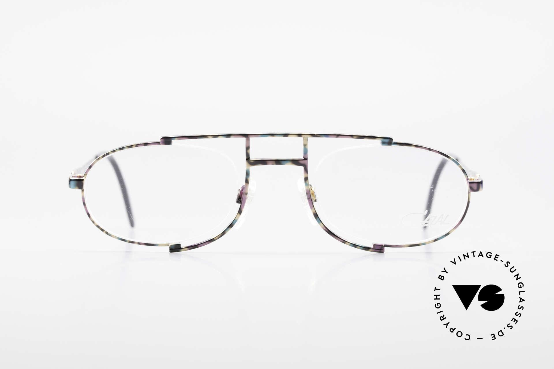 Cazal 753 Rare 90's Designer Eyeglasses, extraordinary, semi-rimless frame construction, Made for Men