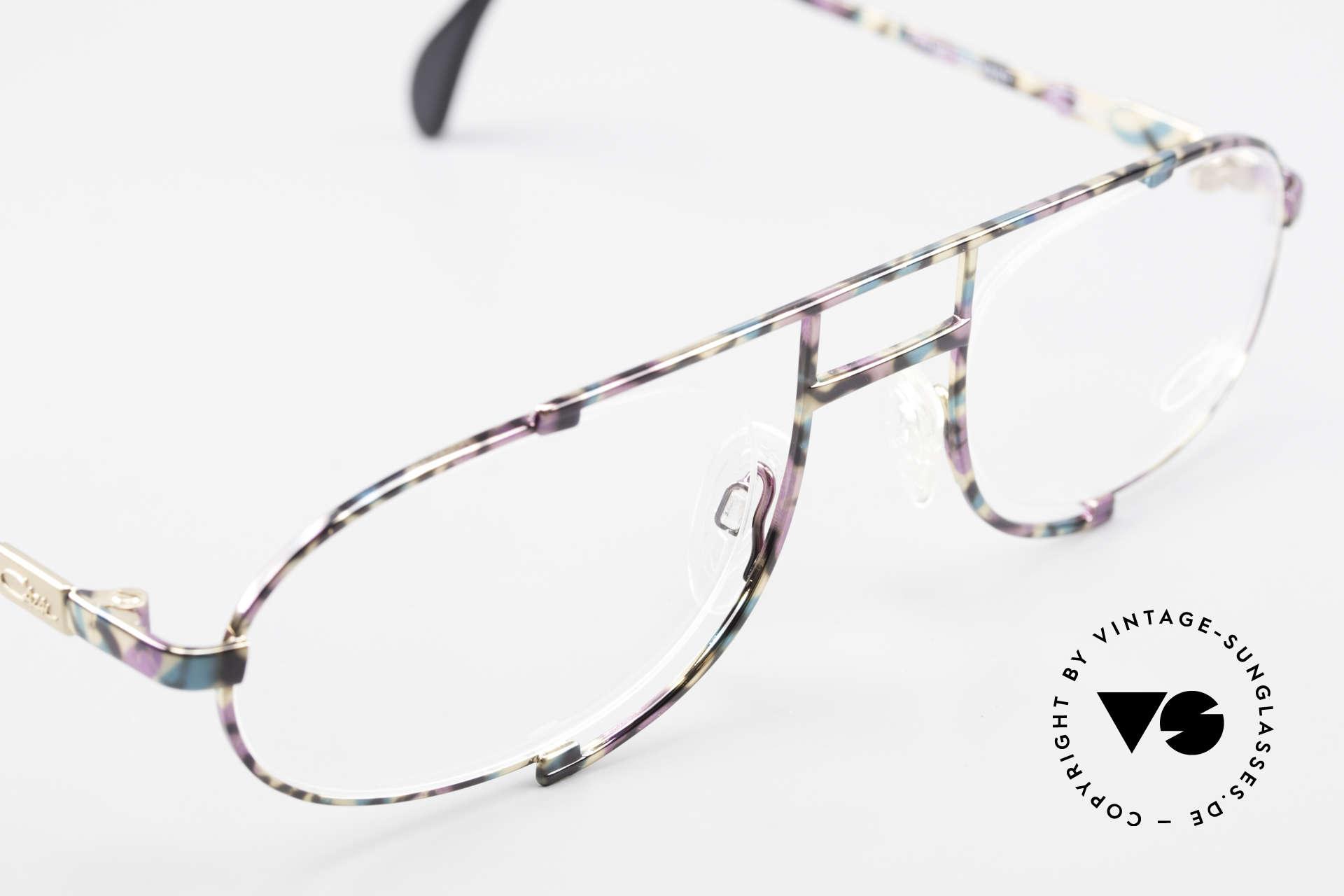 Cazal 753 Rare 90's Designer Eyeglasses, Cazal called the paintwork 'petrol-aubergine-black', Made for Men