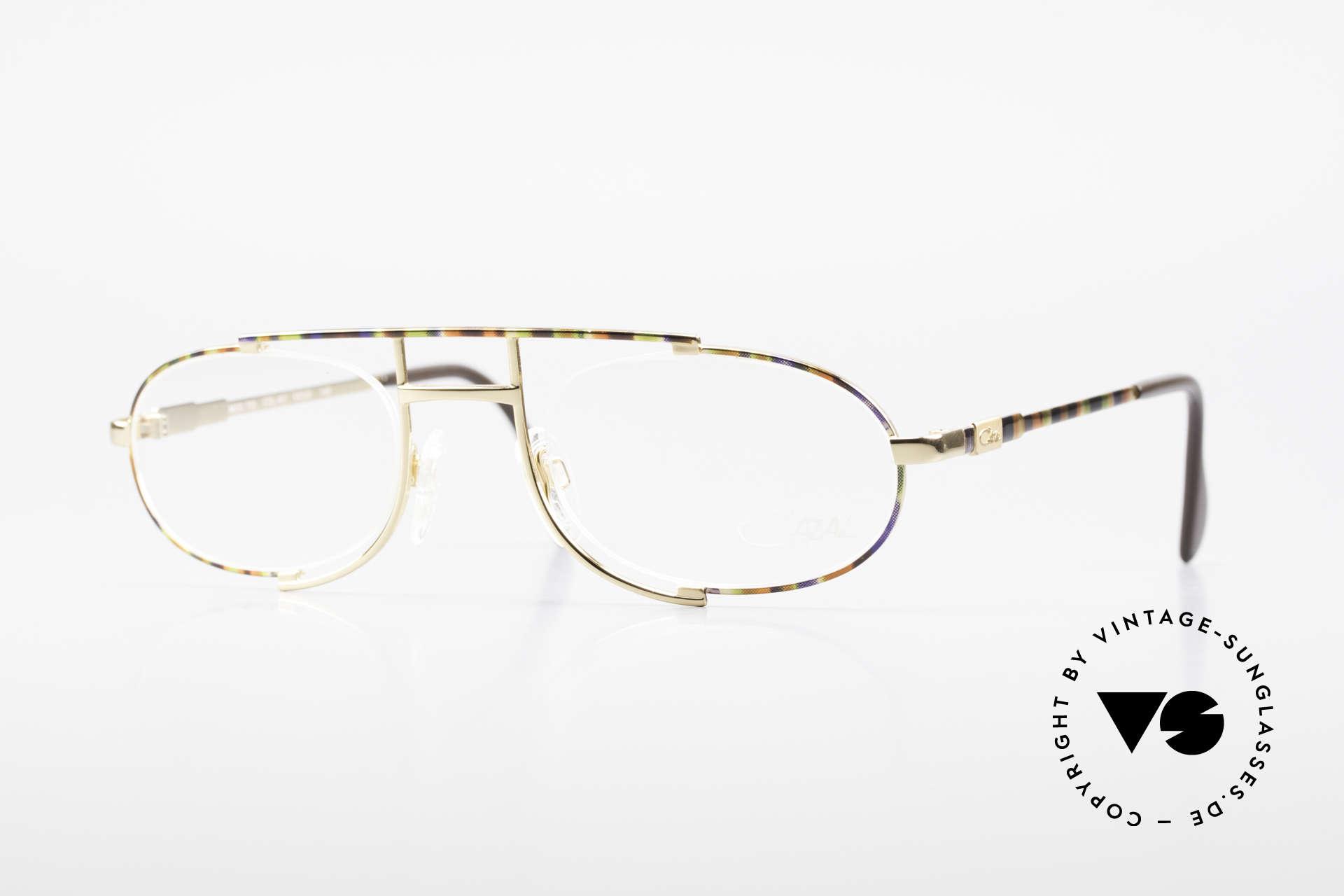 Cazal 753 Rare 1990's Designer Glasses, oval vintage eyeglass-frame by CAZAL from 1992, Made for Men