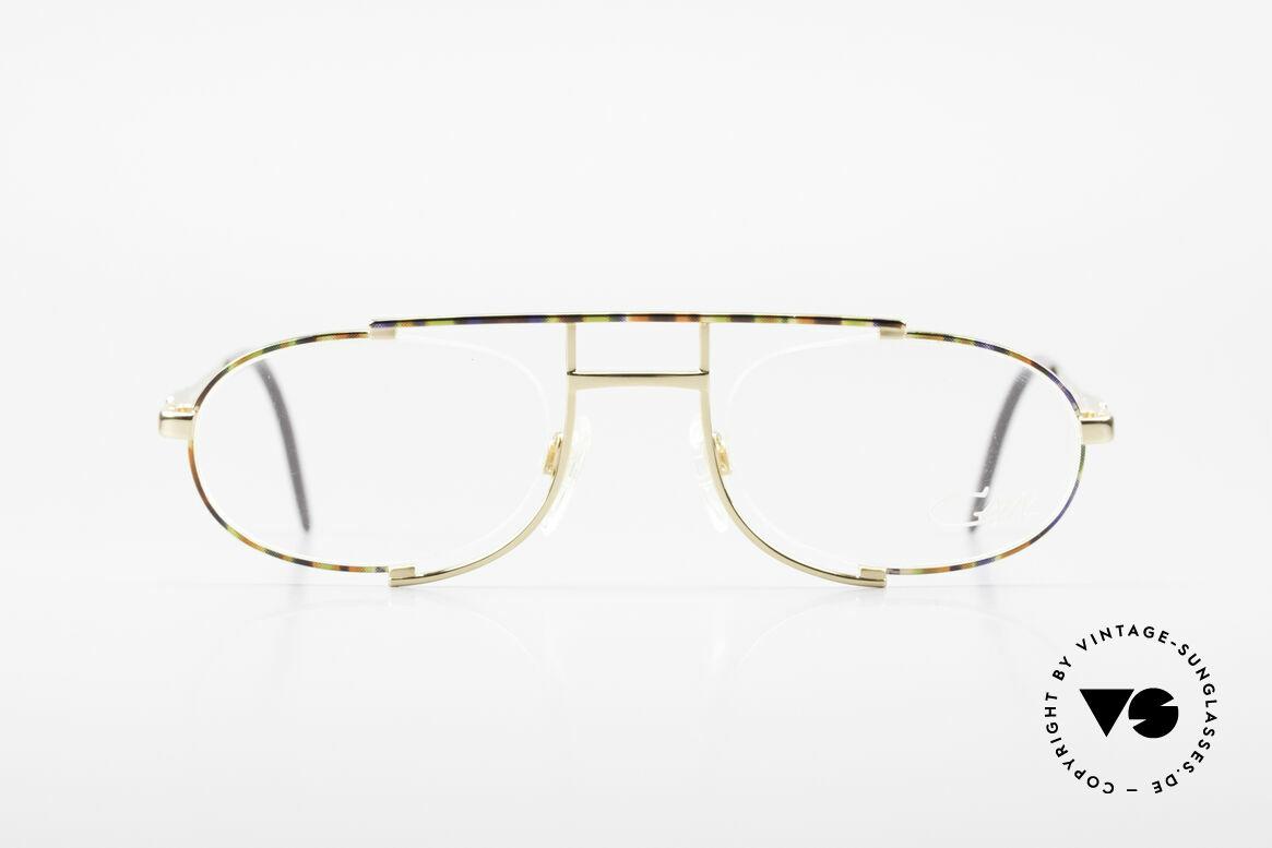 Cazal 753 Rare 1990's Designer Glasses, extraordinary, semi-rimless frame construction, Made for Men