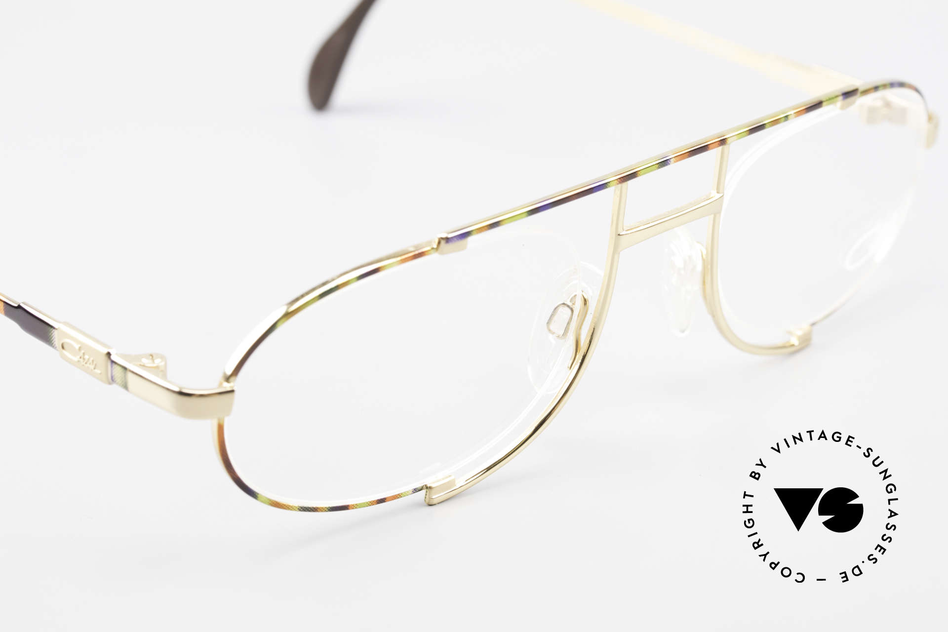 Cazal 753 Rare 1990's Designer Glasses, Cazal called the paintwork 'maize-pistachio-copper', Made for Men