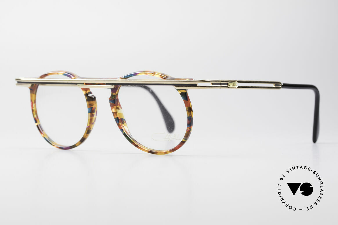 Cazal 648 Original Cari Zalloni Glasses, extroverted frame construction with unique coloring, Made for Men and Women