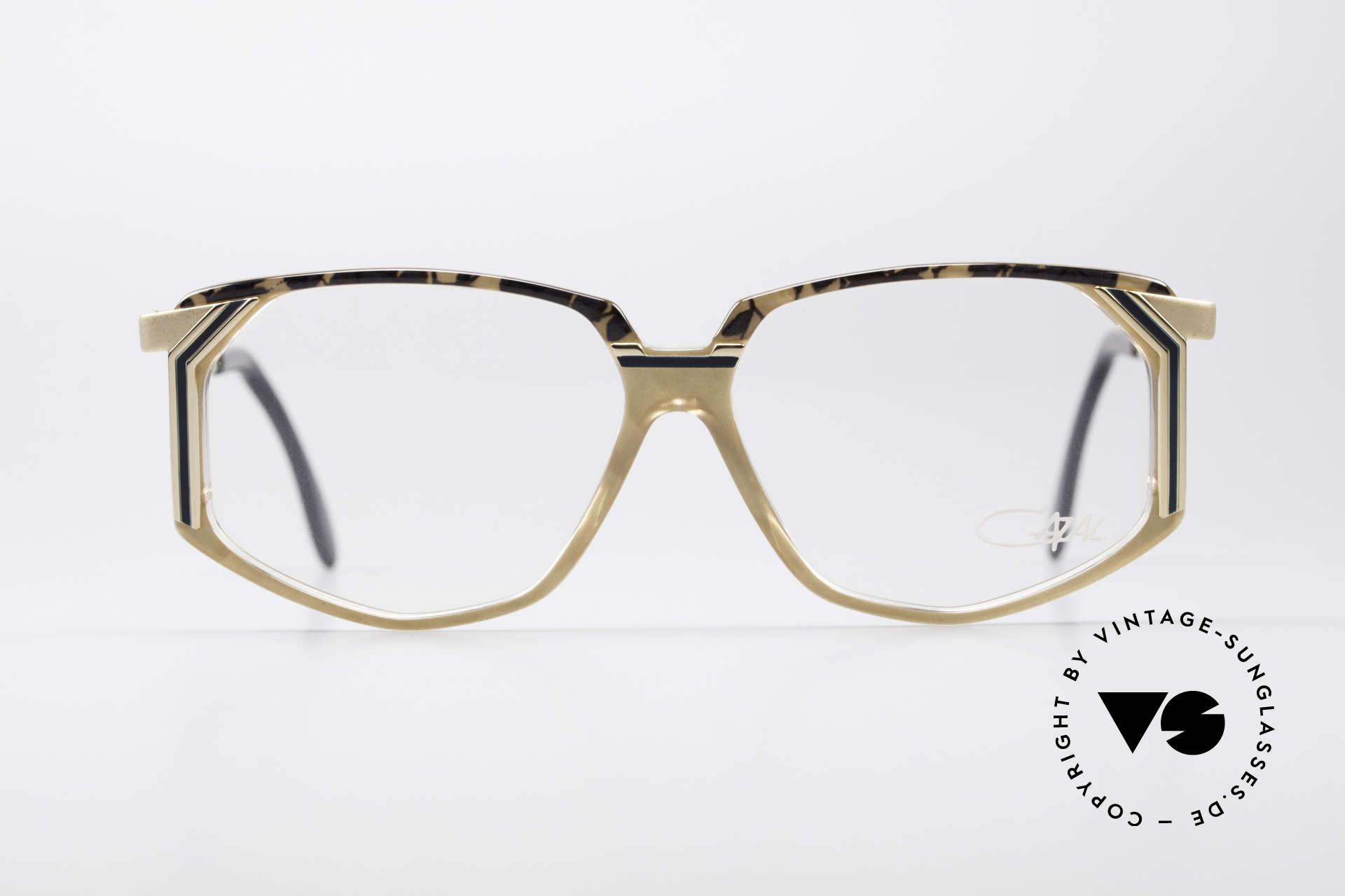 Cazal 346 Hip Hop 90's Designer Eyeglasses, striking frame construction = distinctive 90's CAZAL, Made for Men and Women