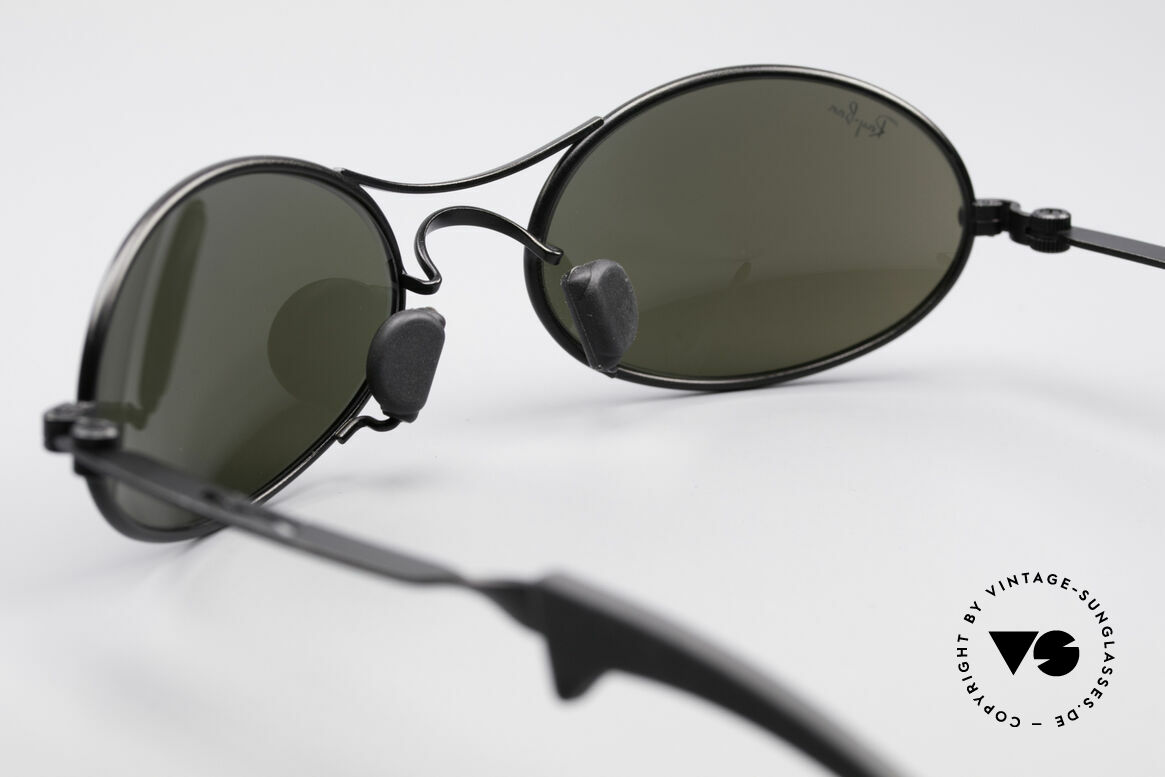 Ray Ban Orbs 9 Base Oval Blue Mirror B&L USA Shades, with BLUE-mirrored Bausch&Lomb B&L mineral lenses, Made for Men