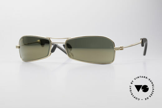 Ray Ban Orbs 9 Base Square Gold Mirror B&L USA Shades Details