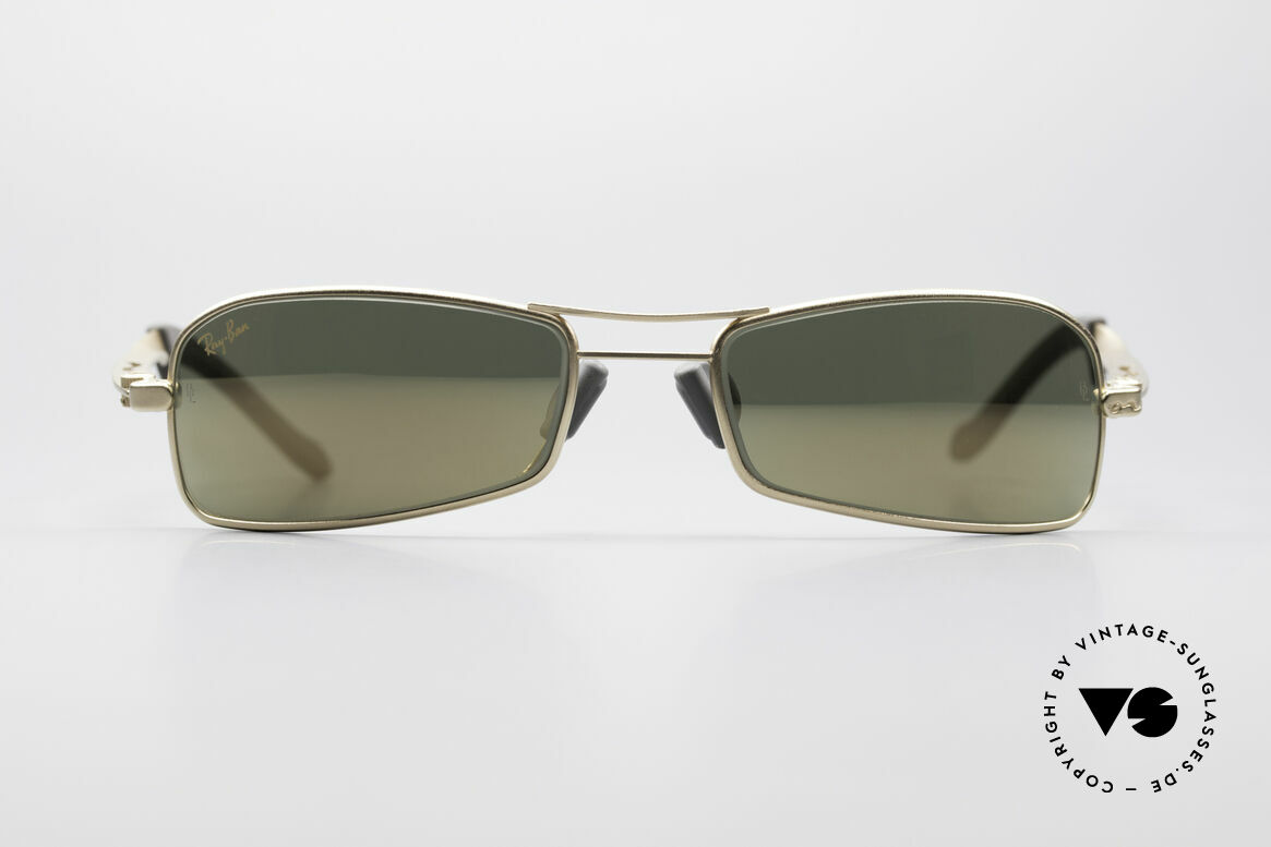 Ray Ban Orbs 9 Base Square Gold Mirror B&L USA Shades