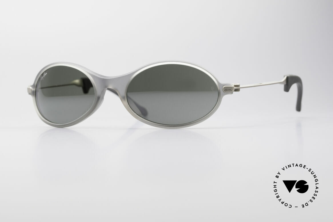 Ray Ban Orbs Oval Combo Silver Mirror B&L USA Shades, futuristic sports designer sunglasses by Ray Ban; B&L, Made for Men