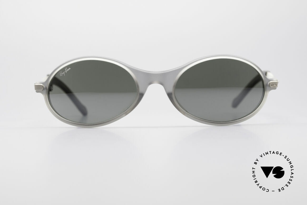 Ray Ban Orbs Oval Combo Silver Mirror B&L USA Shades, original vintage sunglasses from the late 1990's, USA, Made for Men
