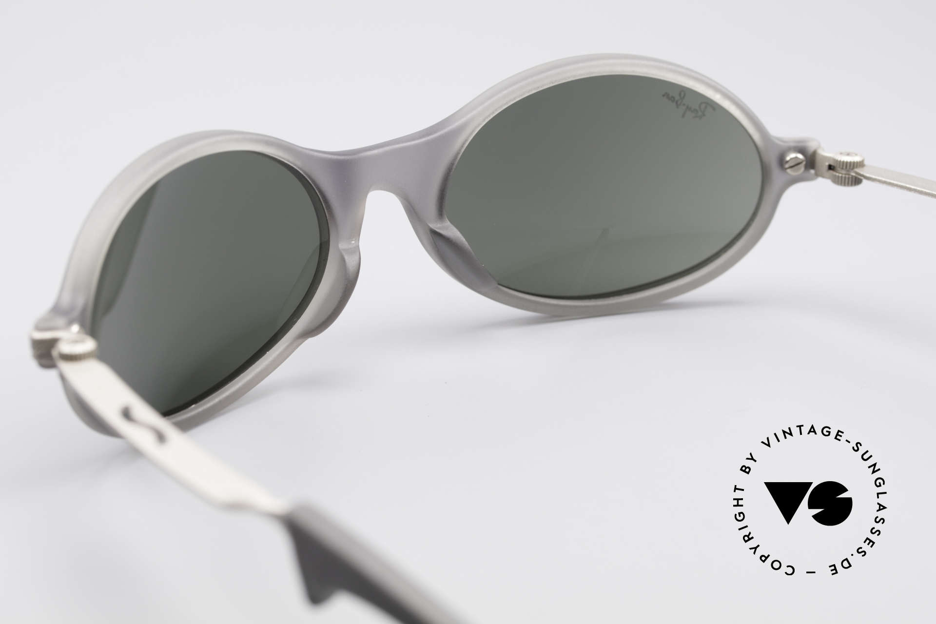 Ray Ban Orbs Oval Combo Silver Mirror B&L USA Shades, with silver-mirrored Bausch&Lomb B&L mineral lenses, Made for Men