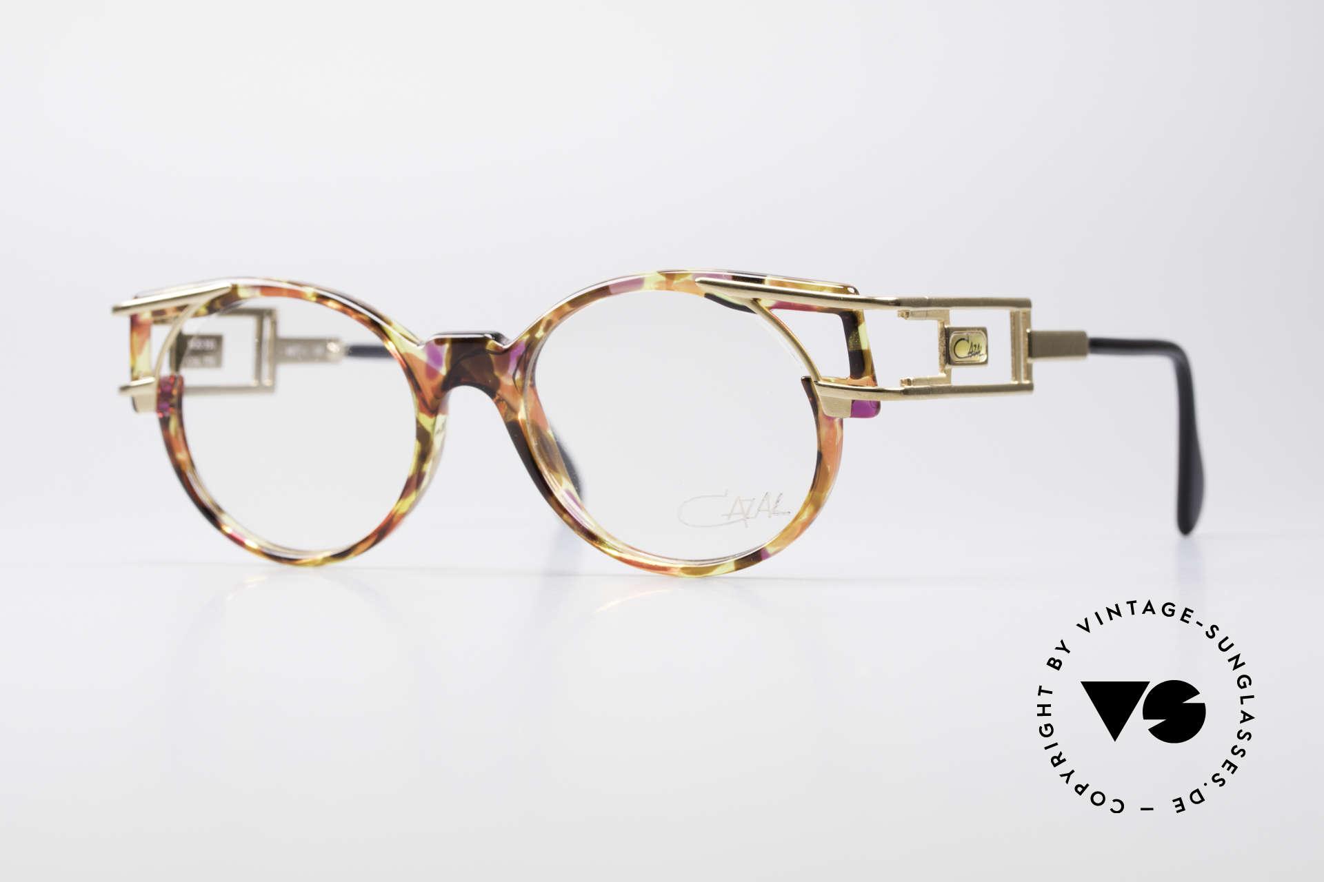 Cazal 353 Old School Hip Hop Eyeglasses, true vintage Cazal designer eyeglass-frame from 1991, Made for Men and Women