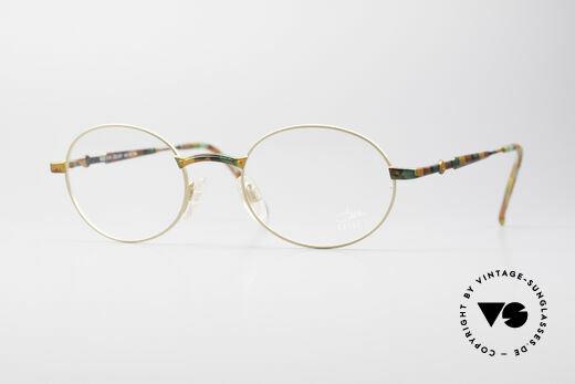 Cazal 1114 - Point 2 Round Vintage Eyeglasses Details