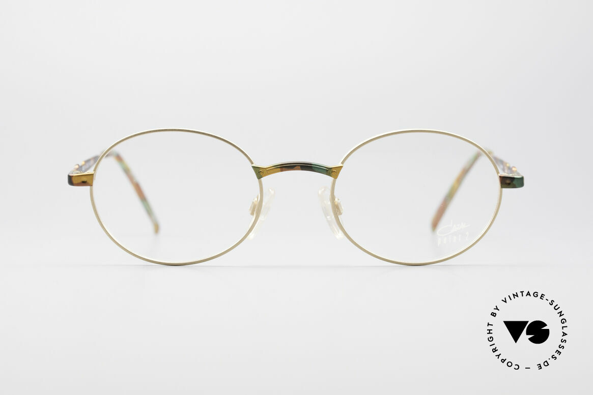 Cazal 1114 - Point 2 Round Vintage Eyeglasses, CAZAL.2 was the 'more discreet' collection by CAZAL, Made for Men and Women