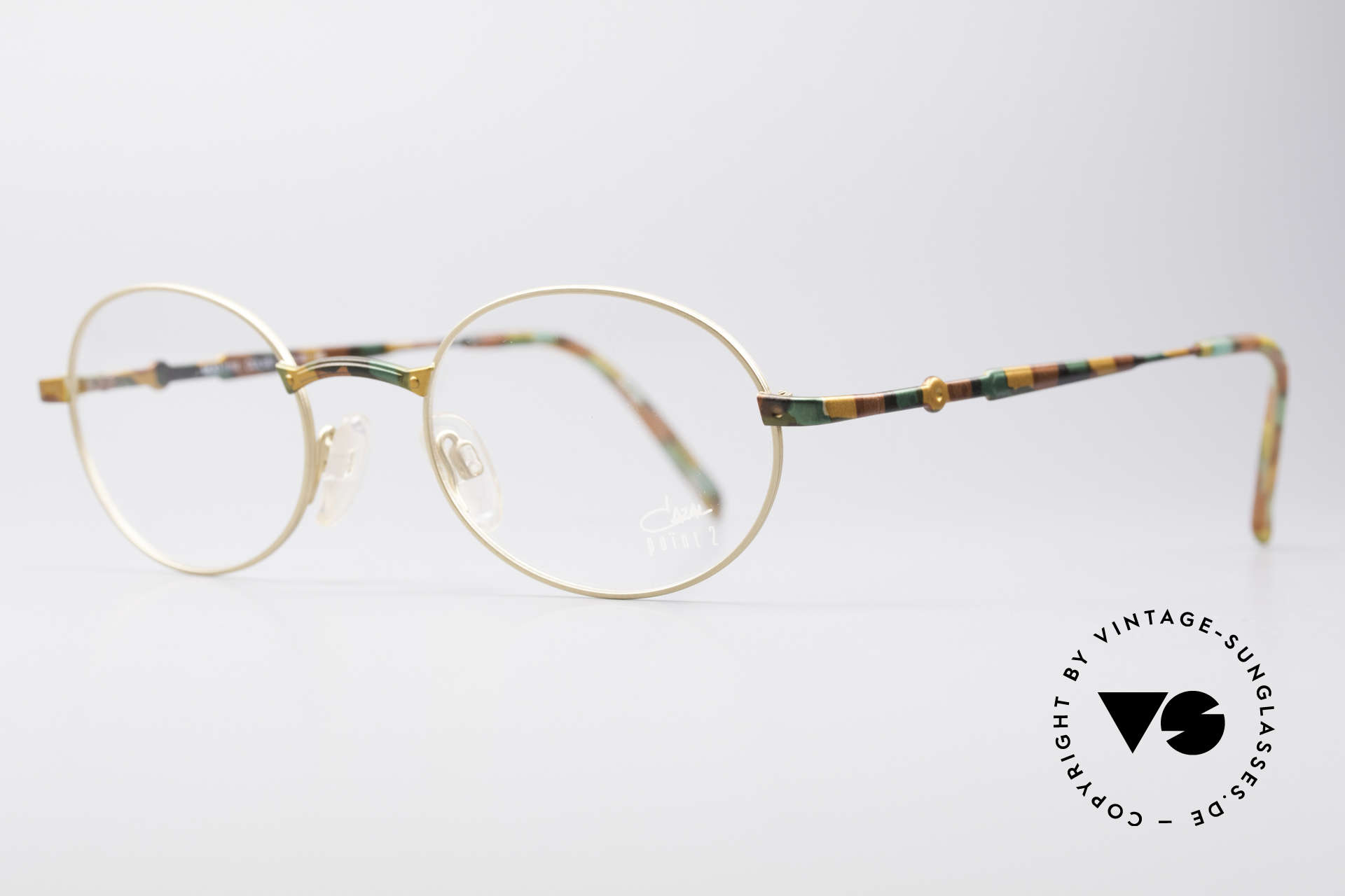 Cazal 1114 - Point 2 Round Vintage Eyeglasses, plain design with clear and pures lines; just timeless!, Made for Men and Women