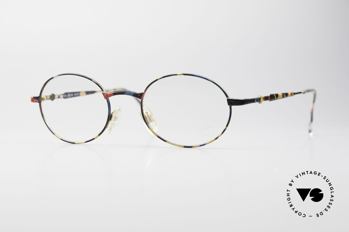 Cazal 1114 - Point 2 Round Oval Vintage Frame, vintage glasses of the Cazal 'Point 2' series from 1999, Made for Men and Women
