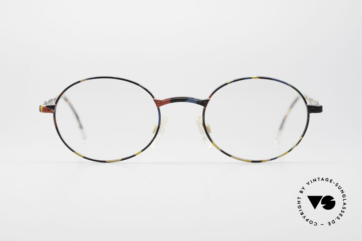 Cazal 1114 - Point 2 Round Oval Vintage Frame, CAZAL.2 was the 'more discreet' collection by CAZAL, Made for Men and Women