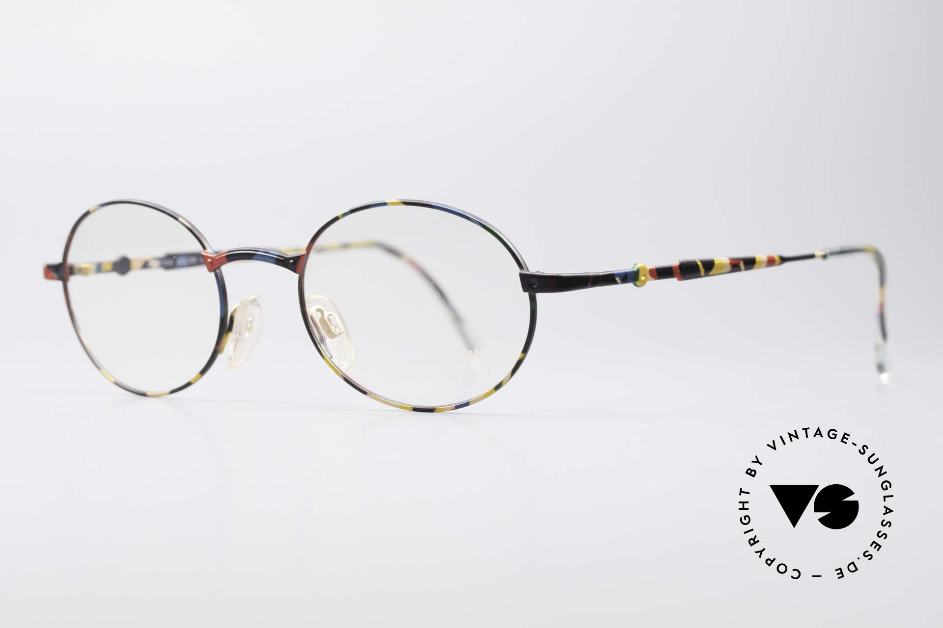 Cazal 1114 - Point 2 Round Oval Vintage Frame, plain design with clear and pures lines; just timeless!, Made for Men and Women