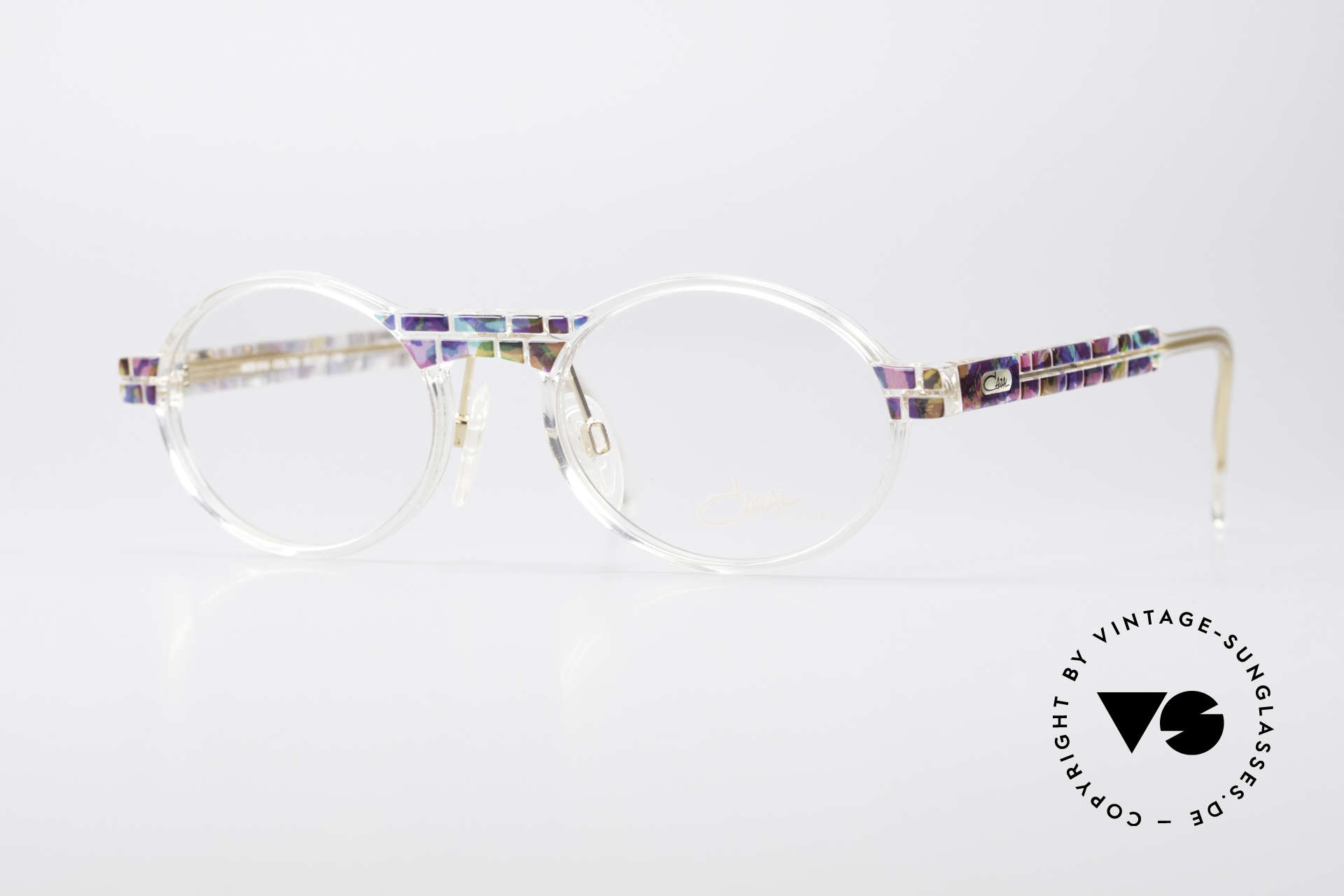 Cazal 510 Crystal Limited Vintage Glasses, rare Cazal vintage glasses of the Crystal 500's Series, Made for Men and Women