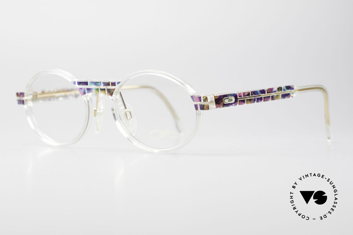 Cazal 510 Crystal Limited Vintage Glasses, special edition with crystal clear frame - truly unique!, Made for Men and Women