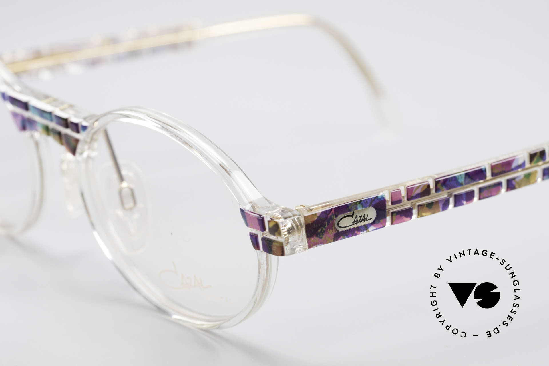 Cazal 510 Crystal Limited Vintage Glasses, fantastic combination of shape, colors and materials, Made for Men and Women