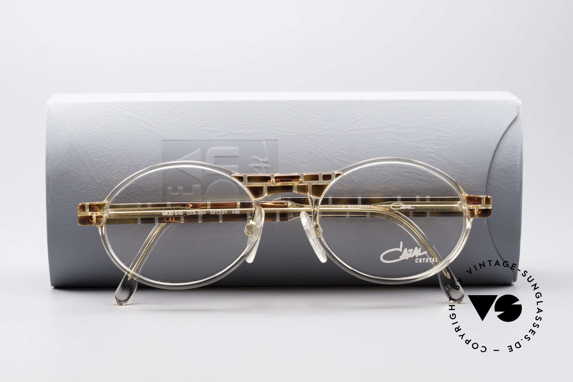 Cazal 510 Crystal Limited Vintage Cazal, demo lenses can be replaced with optical (sun)lenses, Made for Men and Women