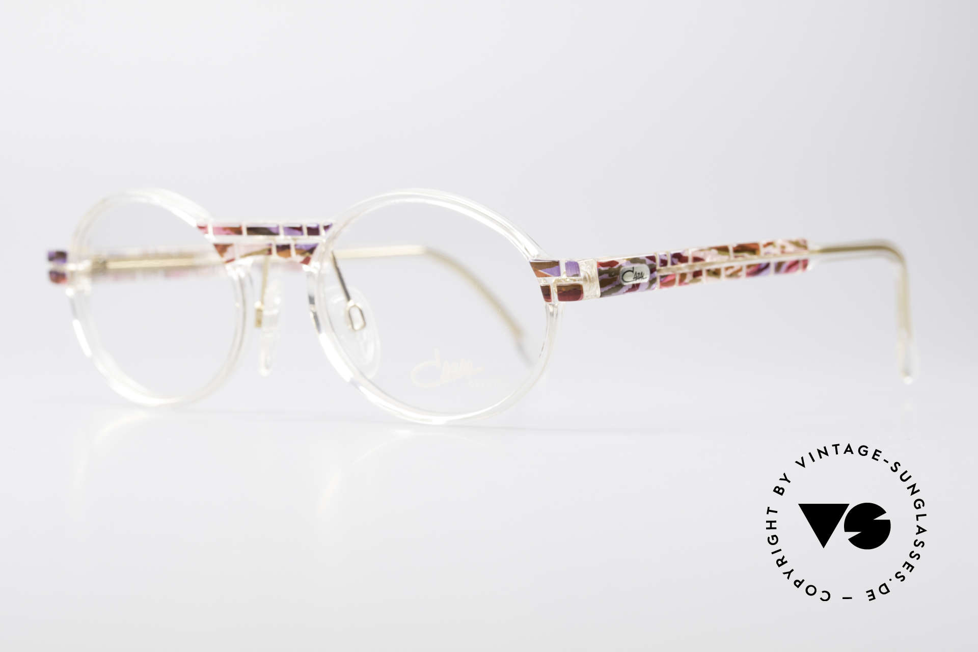 Cazal 510 Crystal Limited Vintage Specs, special edition with crystal clear frame - truly unique!, Made for Women