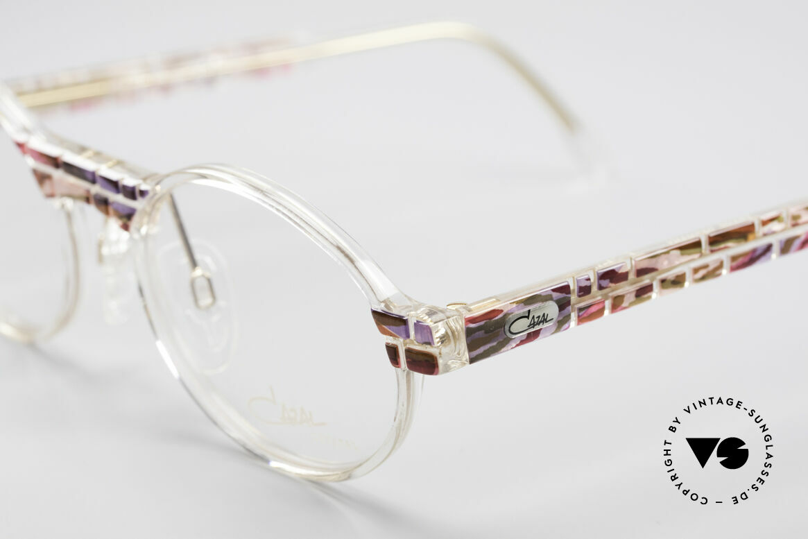 Cazal 510 Crystal Limited Vintage Specs, fantastic combination of shape, colors and materials, Made for Women