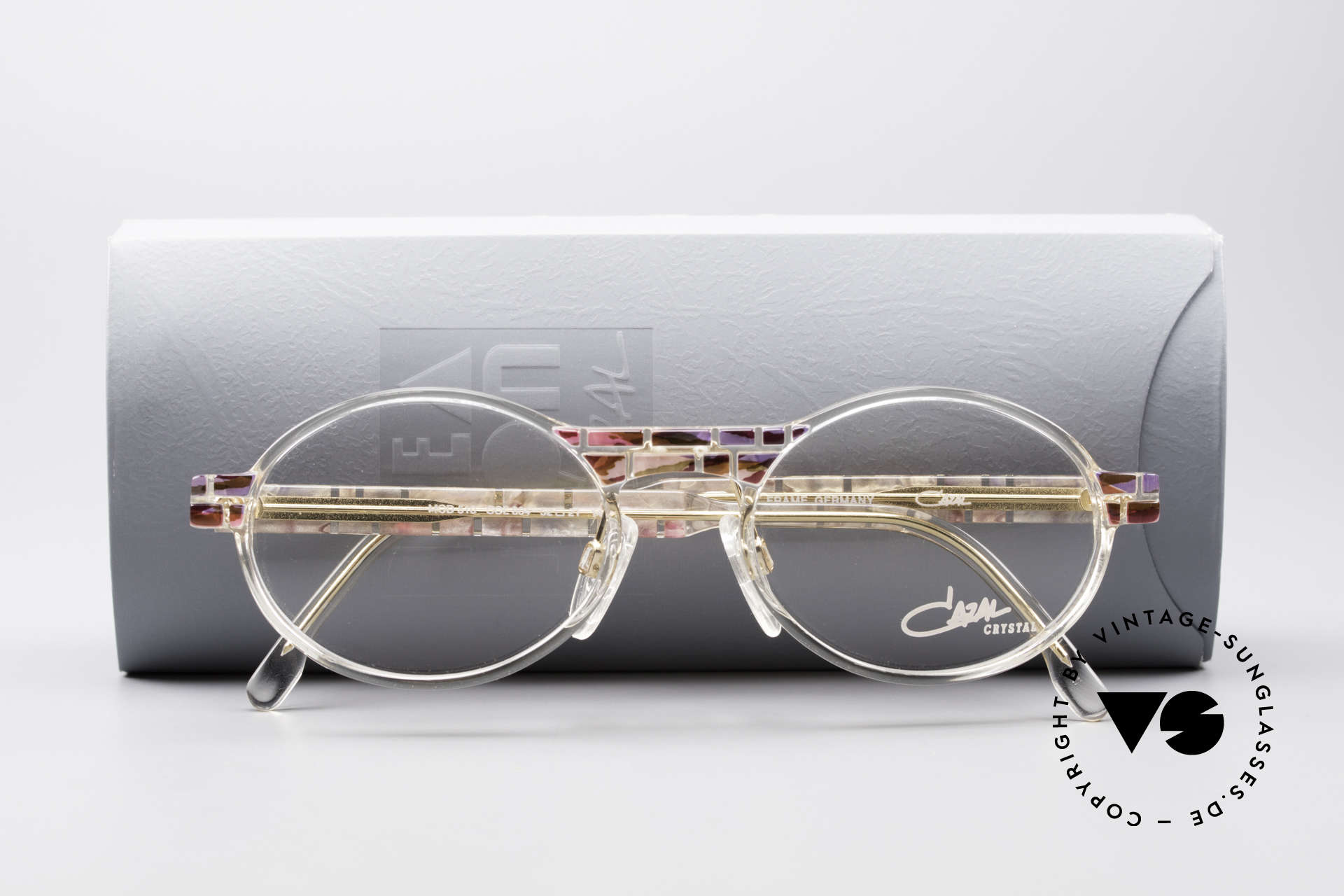 Cazal 510 Crystal Limited Vintage Specs, demo lenses can be replaced with optical (sun)lenses, Made for Women