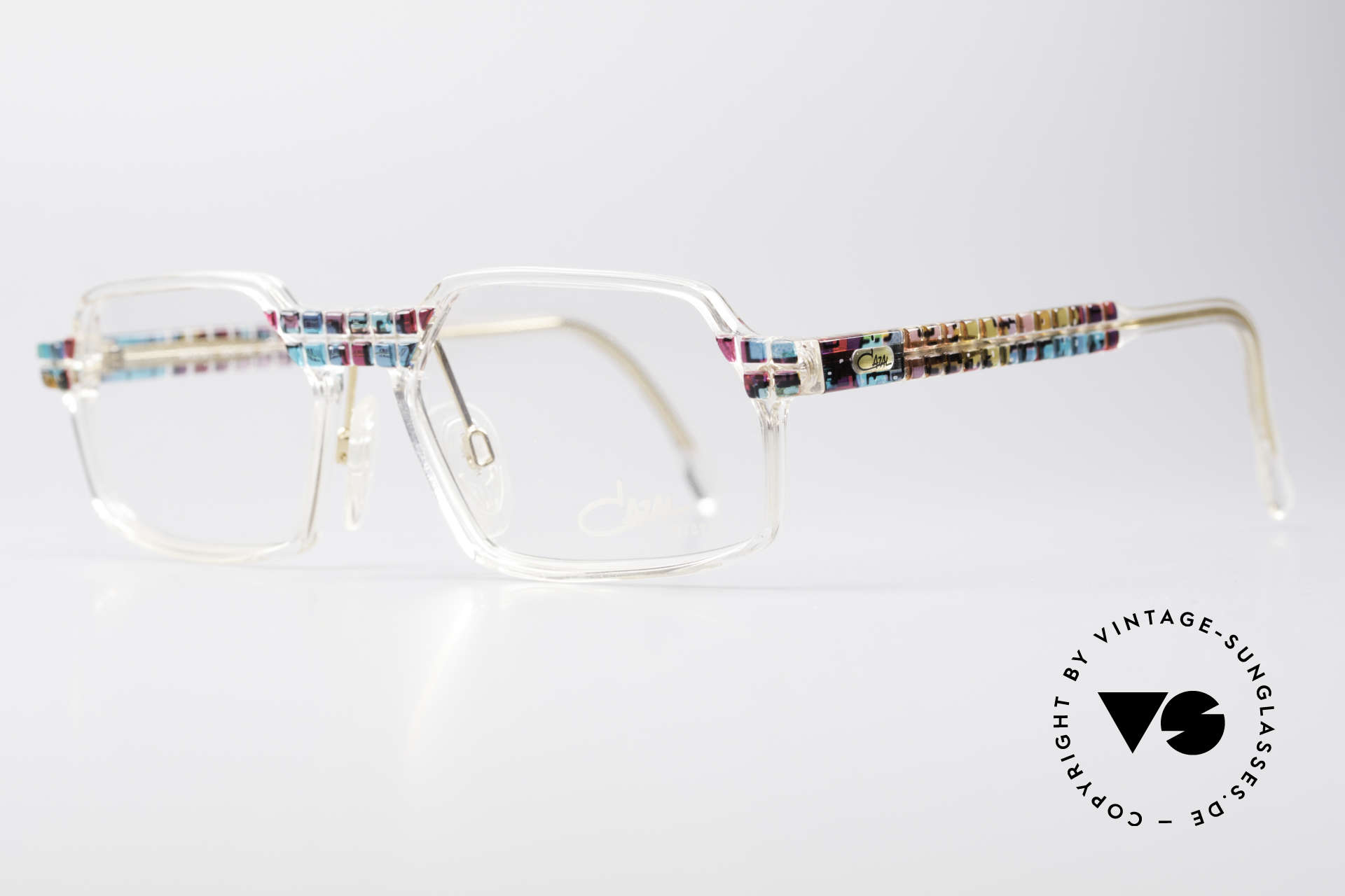Cazal 511 - Crystal Limited Vintage Cazal, special edition with crystal clear frame - truly unique!, Made for Men and Women
