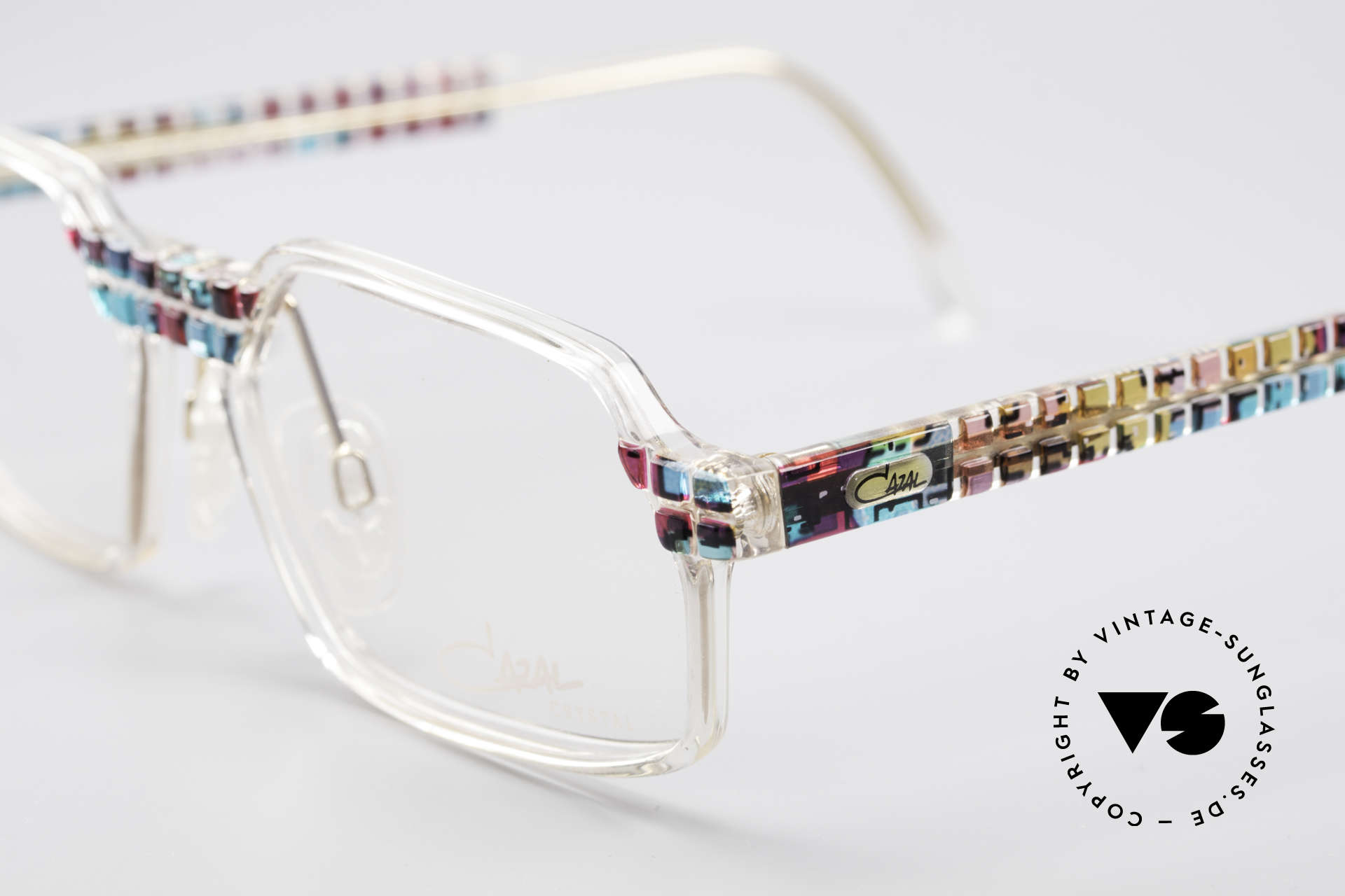 Cazal 511 - Crystal Limited Vintage Cazal, fantastic combination of shape, colors and materials, Made for Men and Women