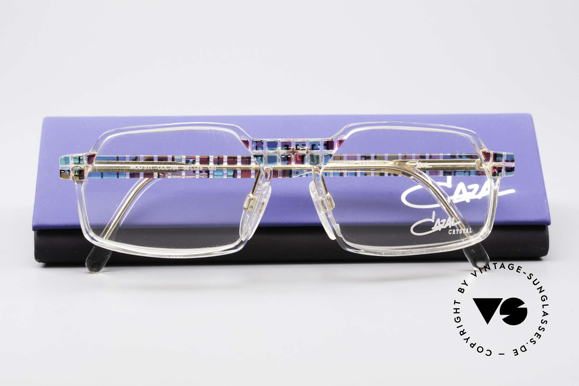 Cazal 511 - Crystal Limited Vintage Cazal, demo lenses can be replaced with optical (sun)lenses, Made for Men and Women