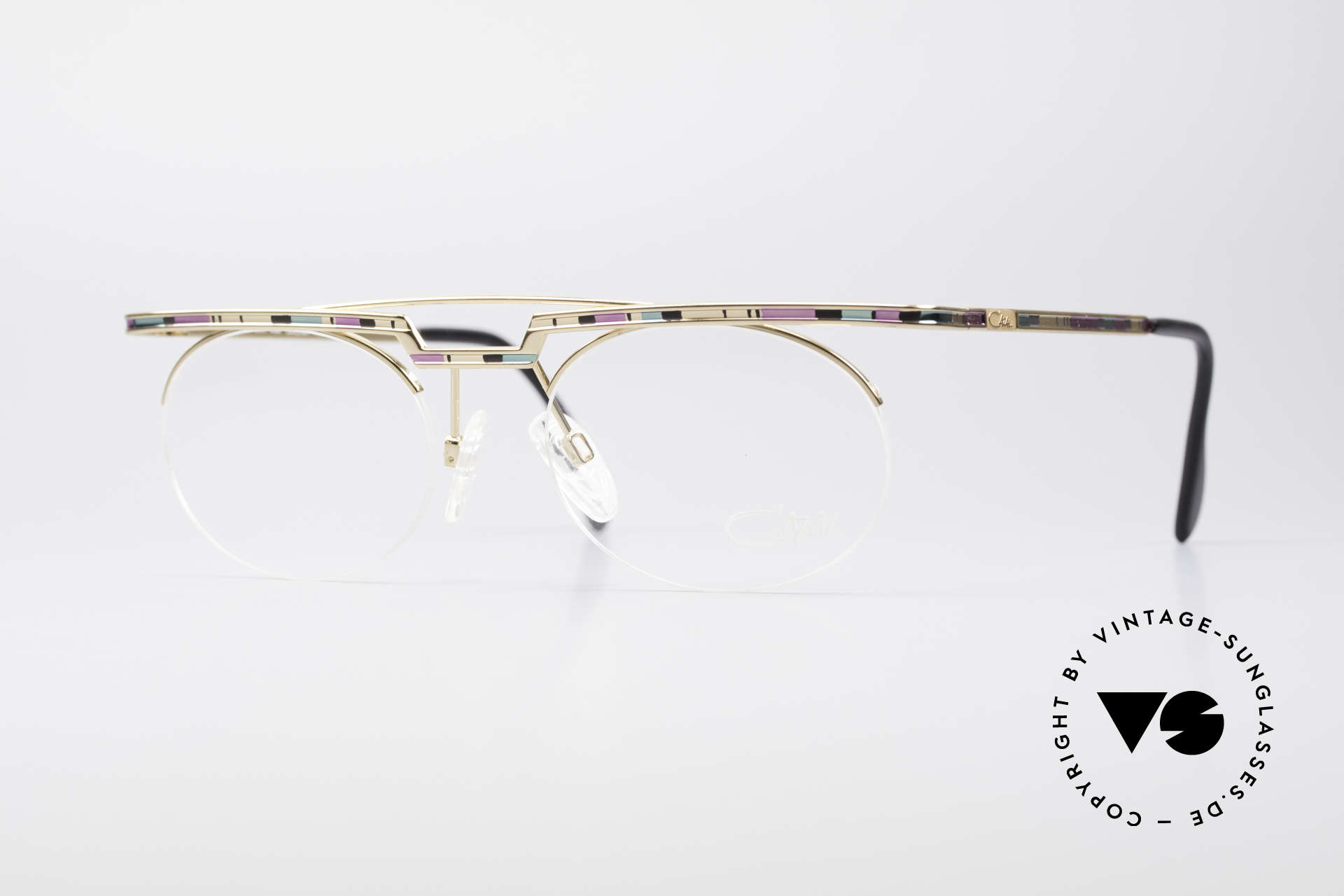 Cazal 758 Original Glasses No Retro Frame, interesting Cazal vintage eyeglasses-frame from 1997/98, Made for Men and Women