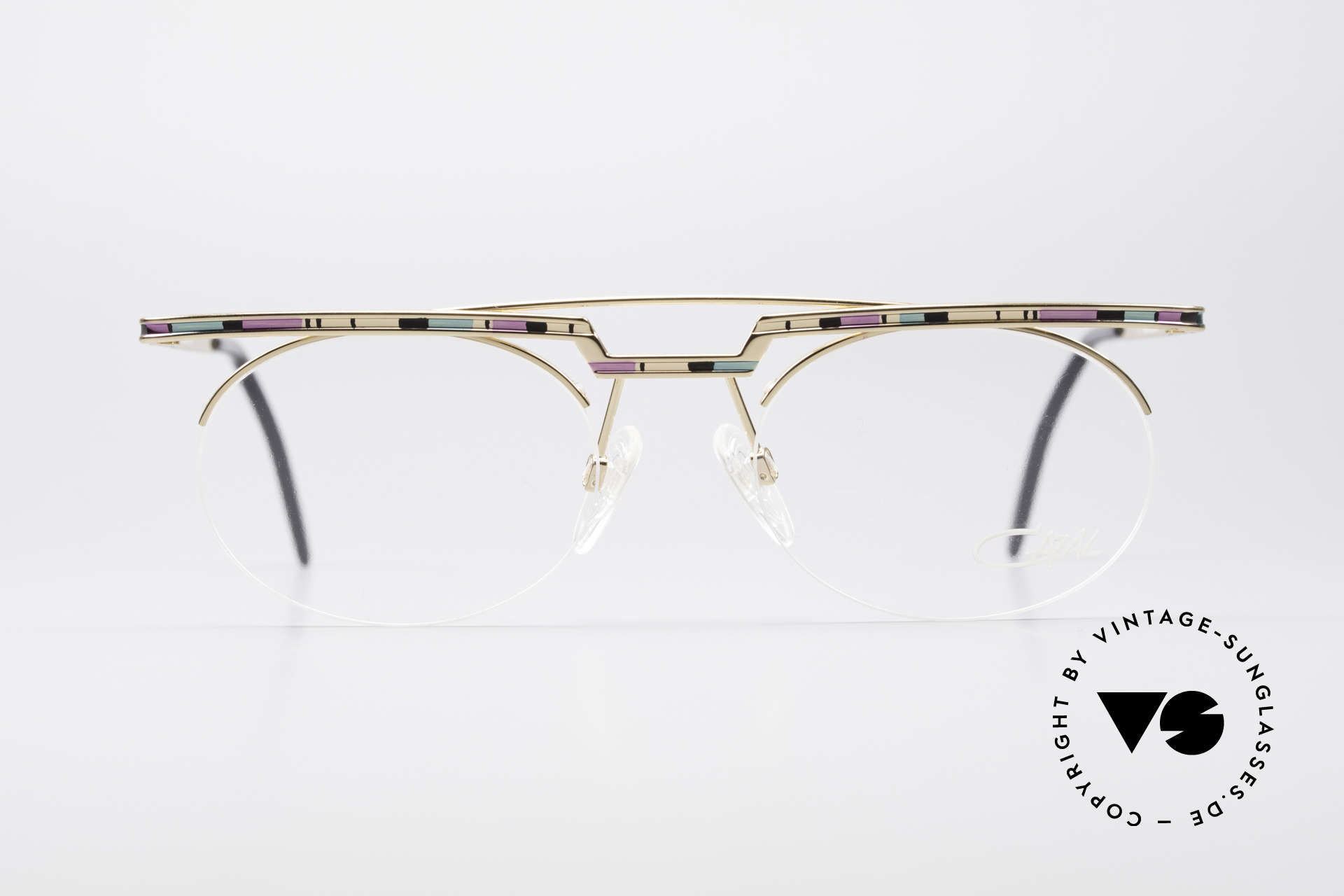 Cazal 758 Original Glasses No Retro Frame, great geometrical play (oval & square, at the same time), Made for Men and Women