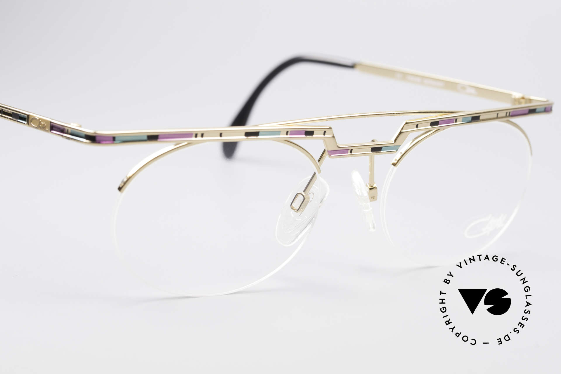 Cazal 758 Original Glasses No Retro Frame, tangible high-end craftsmanship (frame made in Germany), Made for Men and Women